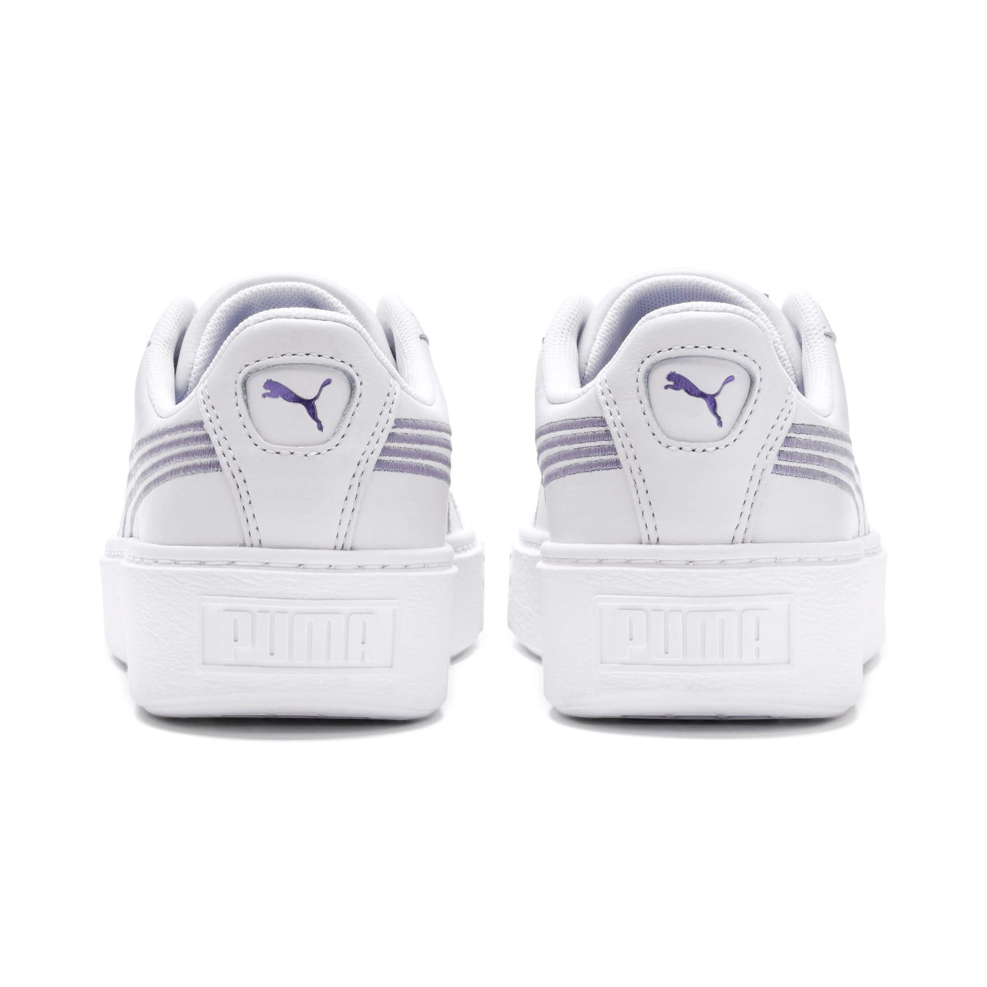 Thumbnail 4 of Basket Platform Twilight Women's Sneakers, Puma White-Sweet Lavender, medium