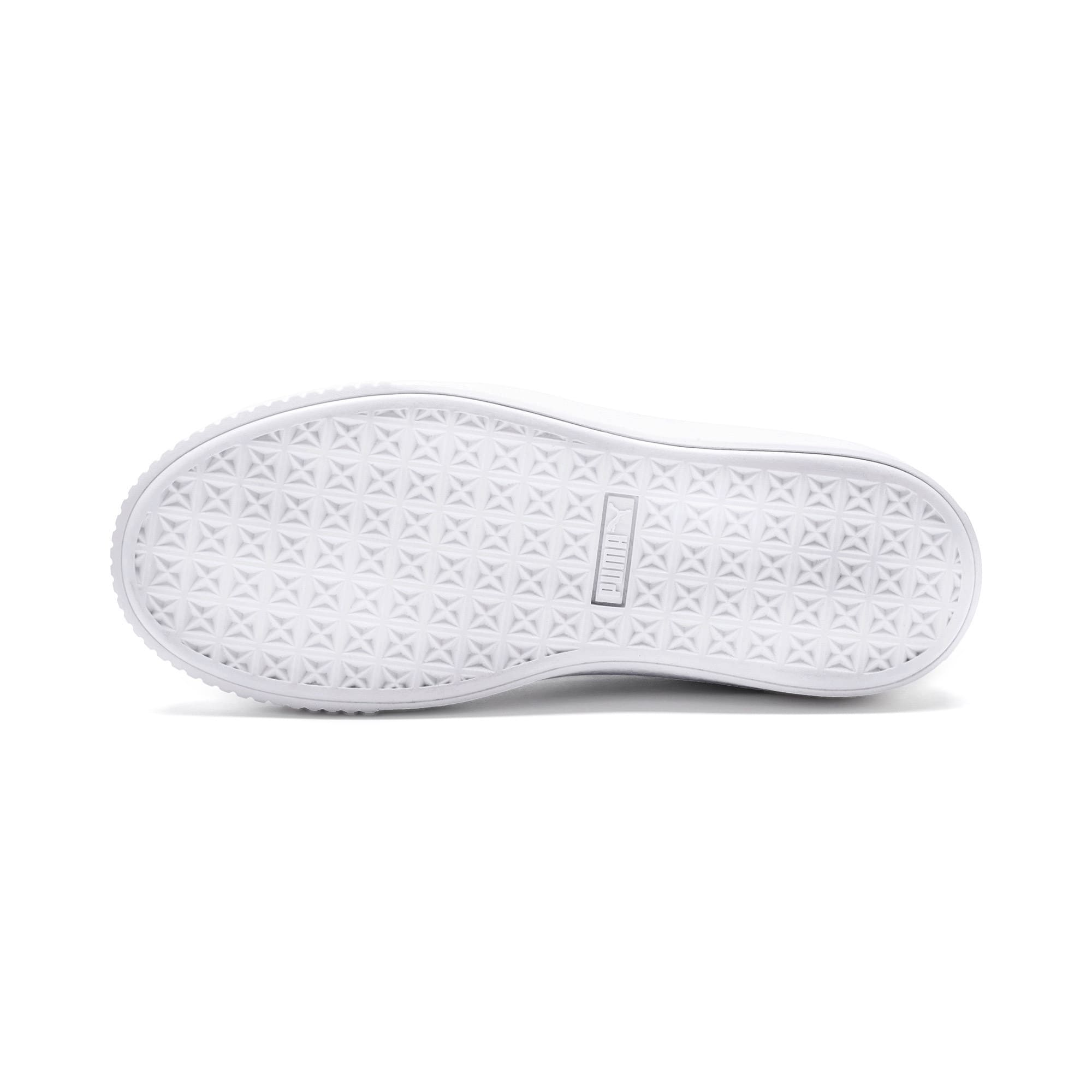 Thumbnail 3 of Basket Platform Twilight Women's Sneakers, Puma White-Sweet Lavender, medium