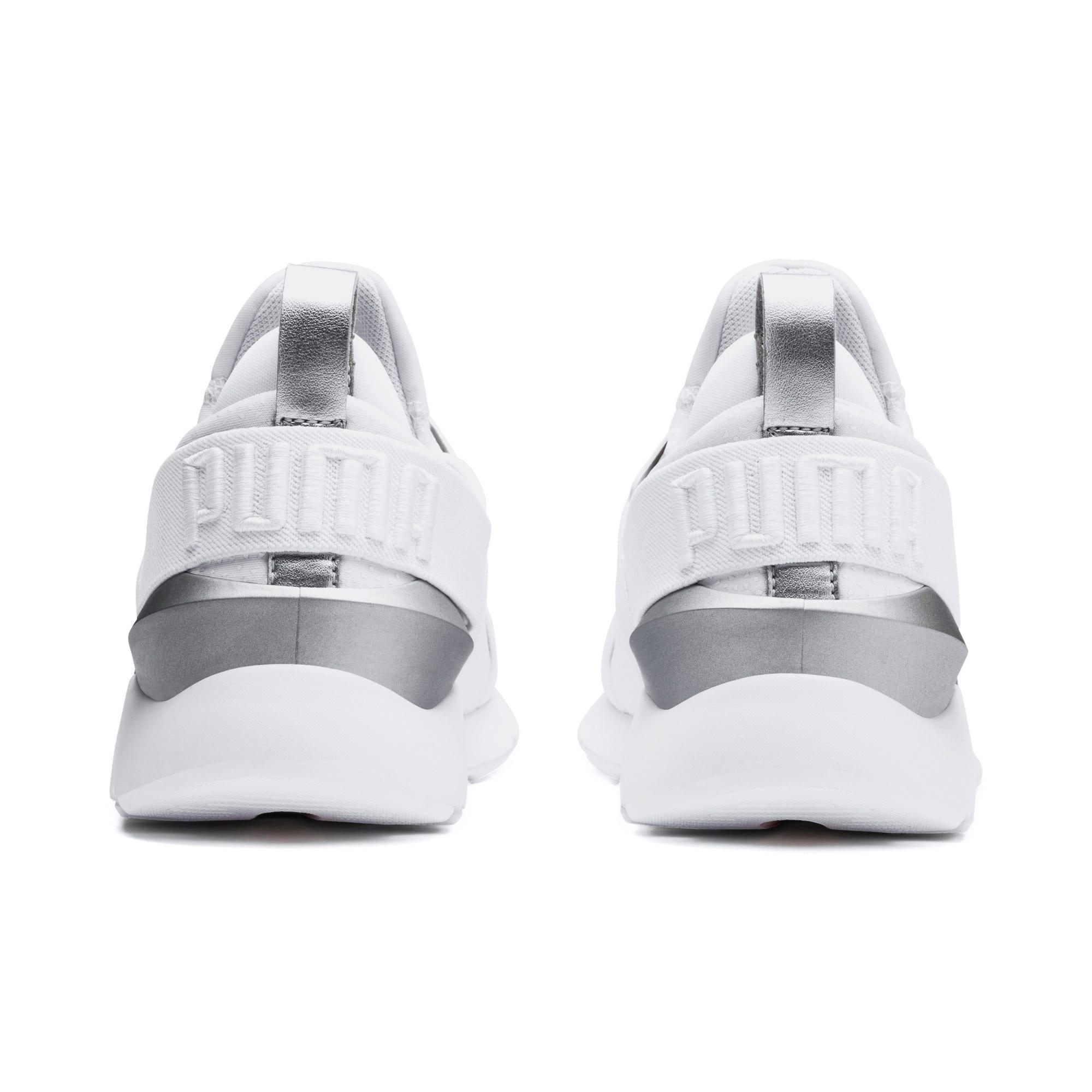 Thumbnail 3 of Muse Perf Women's Sneakers, Puma White-Puma Silver, medium