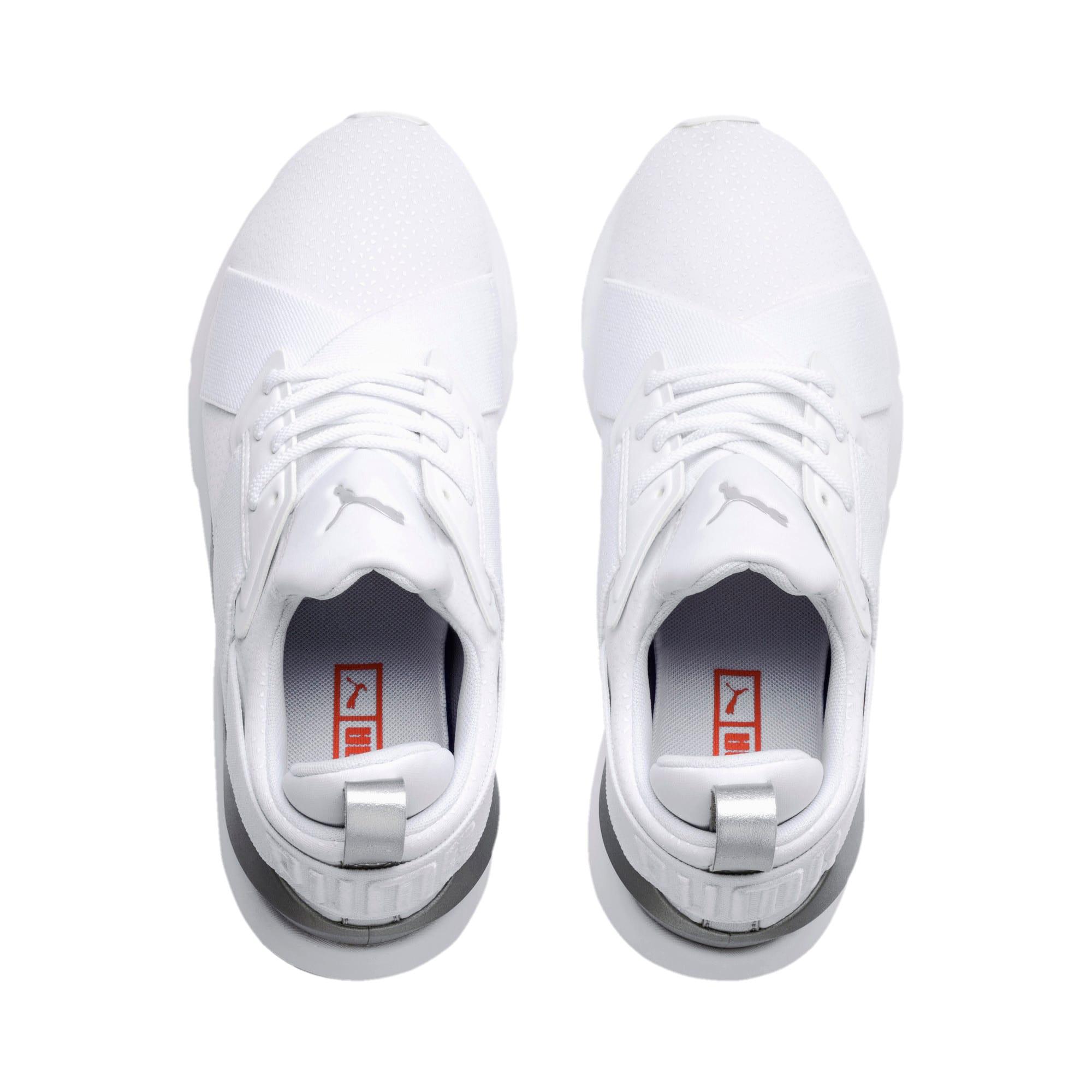 Thumbnail 6 of Muse Perf Women's Sneakers, Puma White-Puma Silver, medium