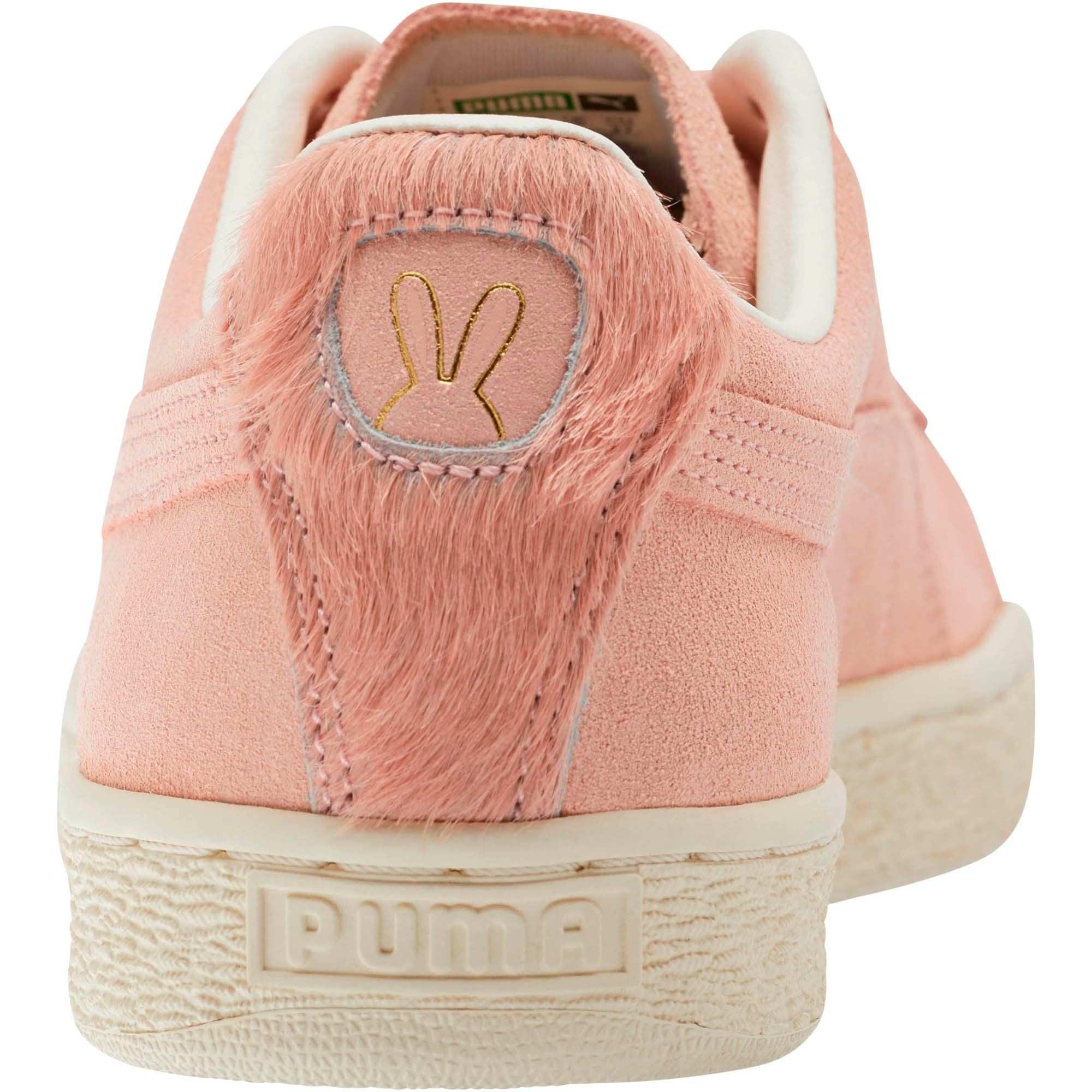 Thumbnail 3 of Suede Classic Easter Sneakers, Coral Cloud-Whisper White, medium