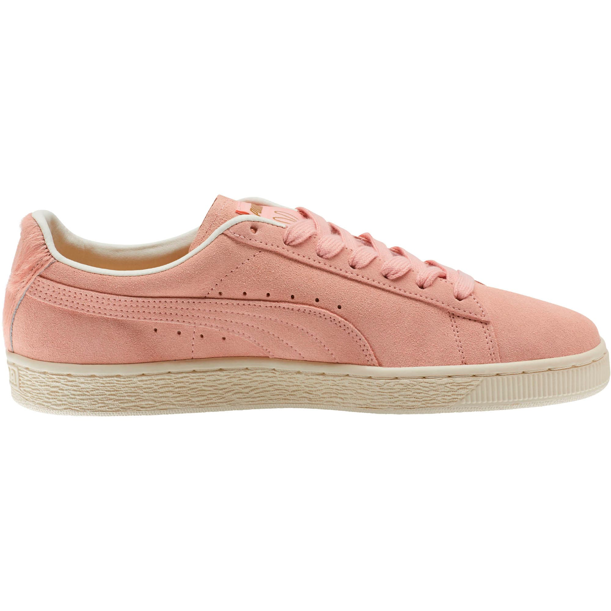 Thumbnail 4 of Suede Classic Easter Sneakers, Coral Cloud-Whisper White, medium