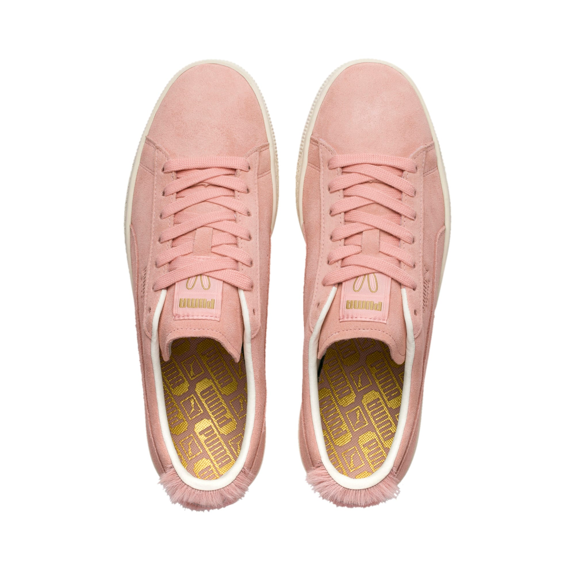 Thumbnail 6 of Suede Classic Easter Sneakers, Coral Cloud-Whisper White, medium