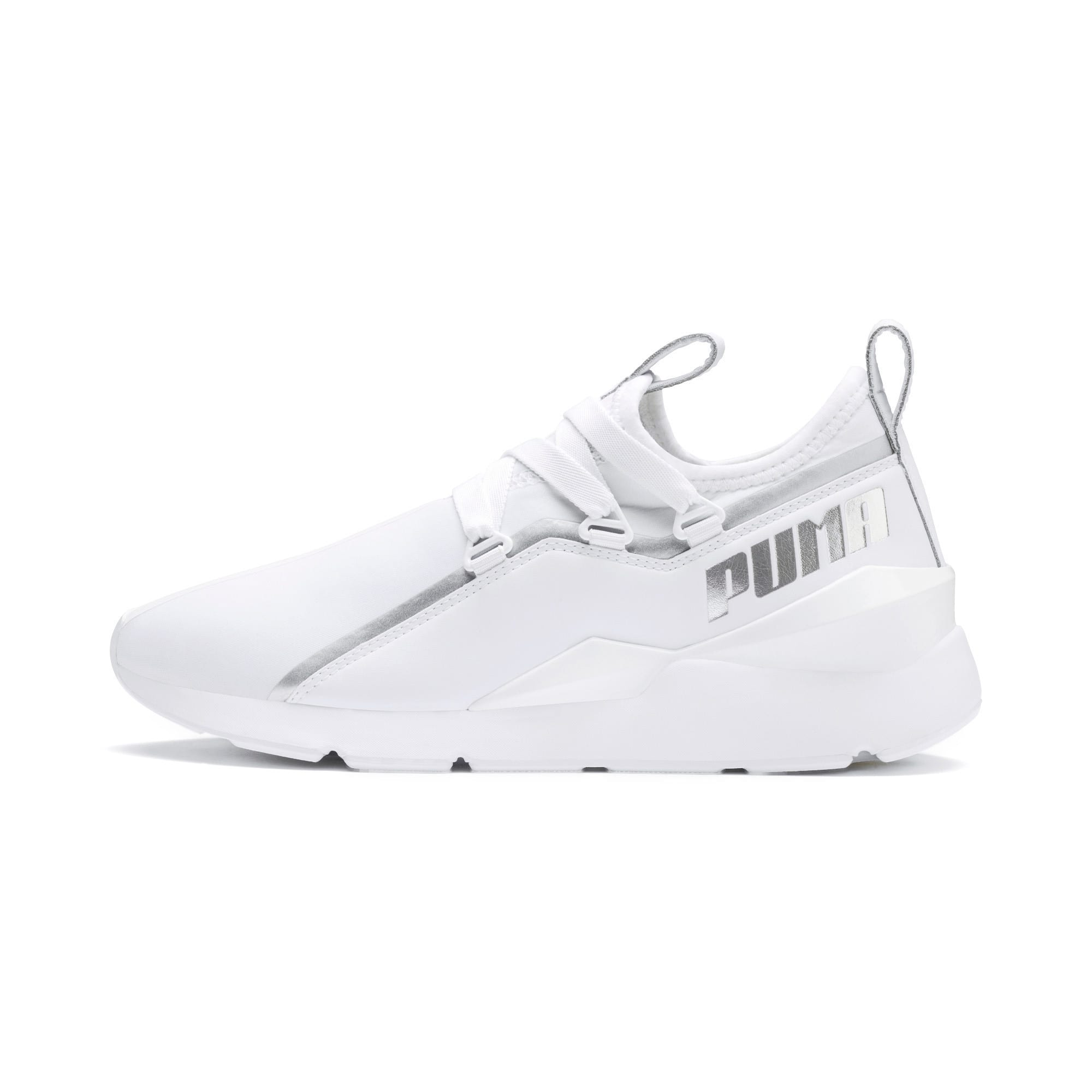 Miniatura 1 de Zapatos deportivos Muse2Trailblazer para mujer, Puma White-Puma Silver, mediano