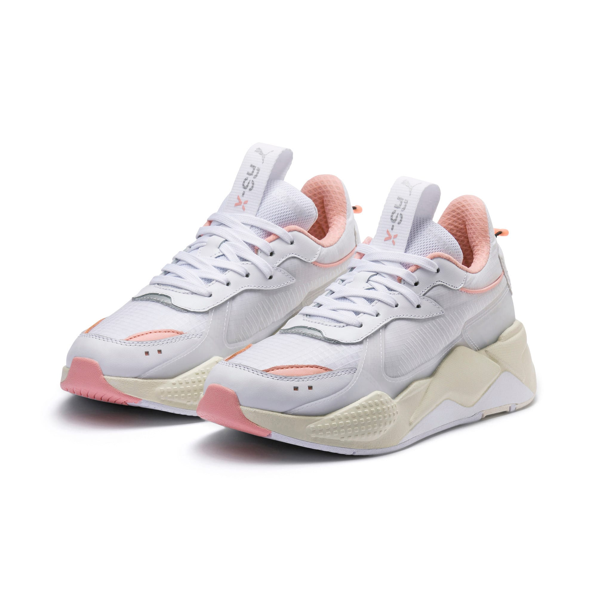 Thumbnail 3 of RS-X TECH Sneakers, Puma White-Peach Bud, medium