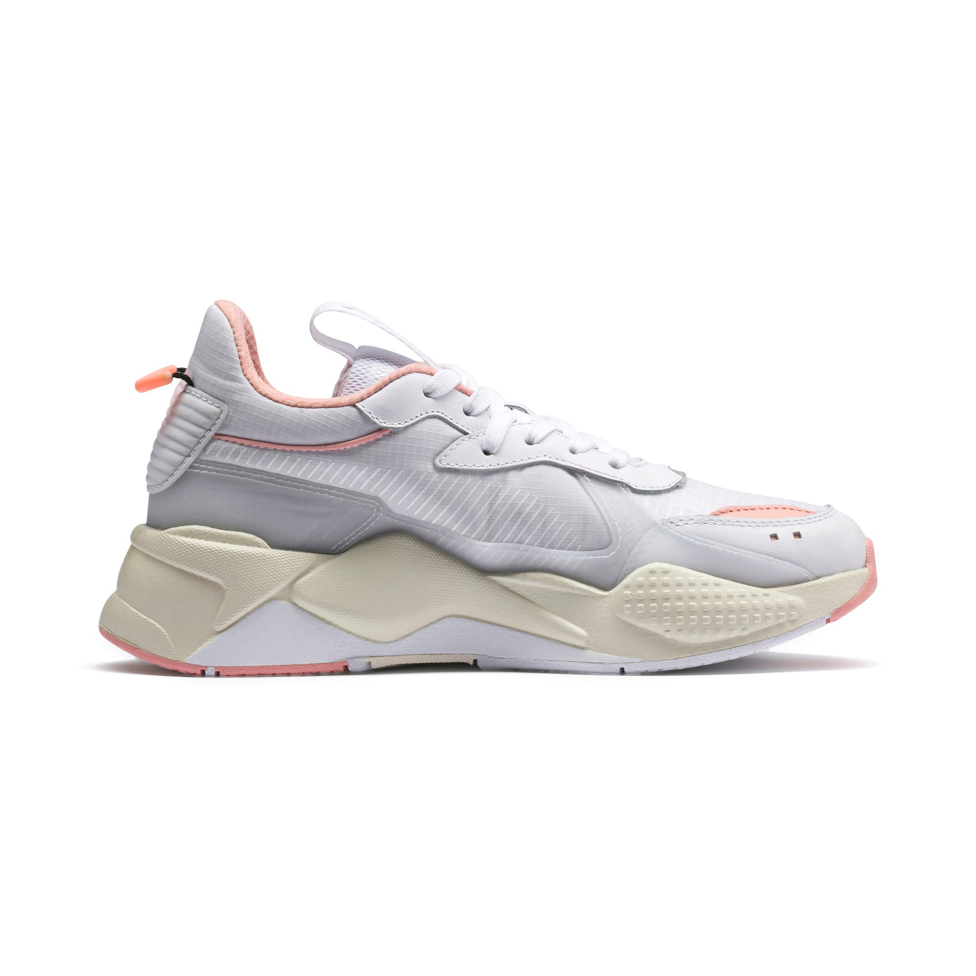 Thumbnail 6 of RS-X TECH Sneakers, Puma White-Peach Bud, medium