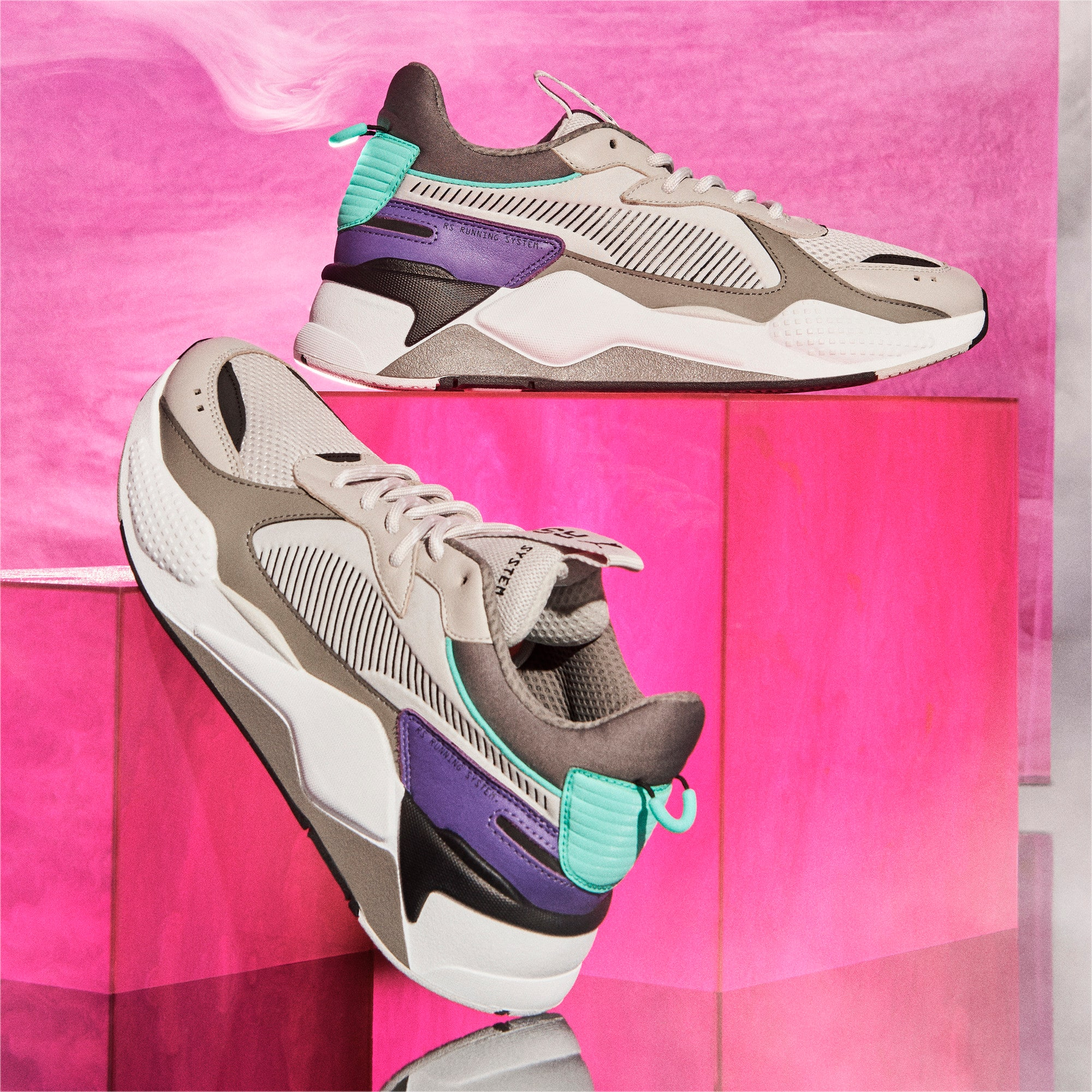 Thumbnail 9 of RS-X Tracks Trainers, Gray Violet-Charcoal Gray, medium