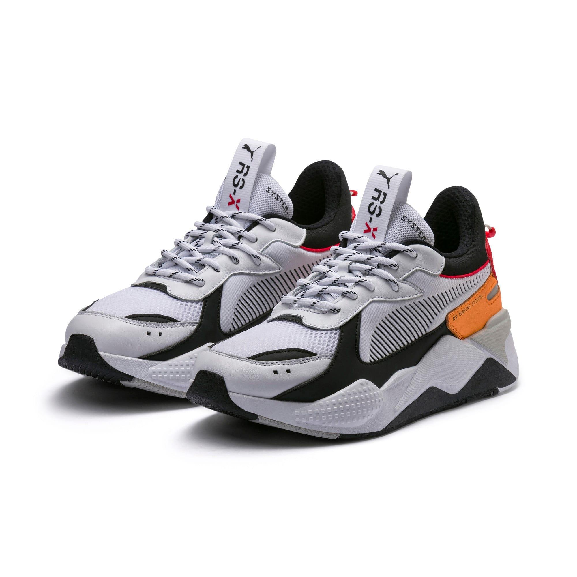 Thumbnail 3 of RS-X Tracks Trainers, Puma White-Puma Black, medium