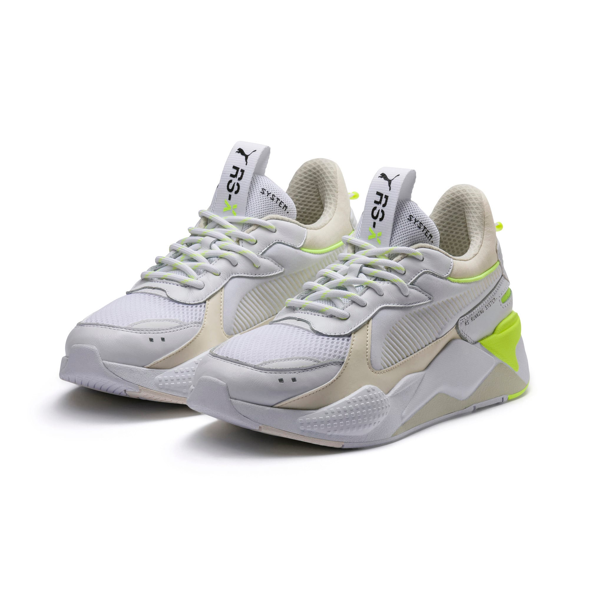 Thumbnail 2 of RS-X Tracks Trainers, Puma White-Whisper White, medium
