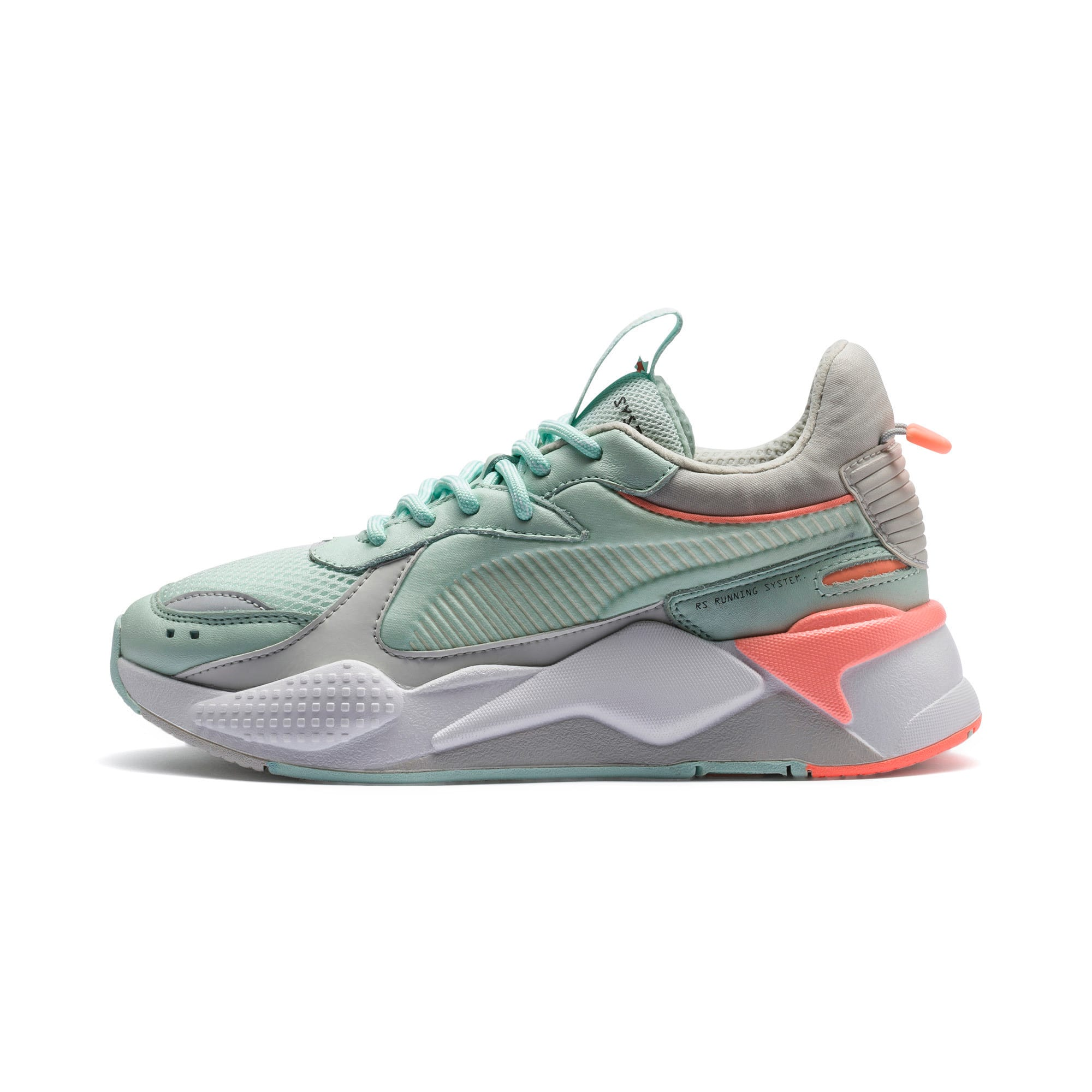 Thumbnail 1 of RS-X Tracks Trainers, Fair Aqua-Glacier Gray, medium