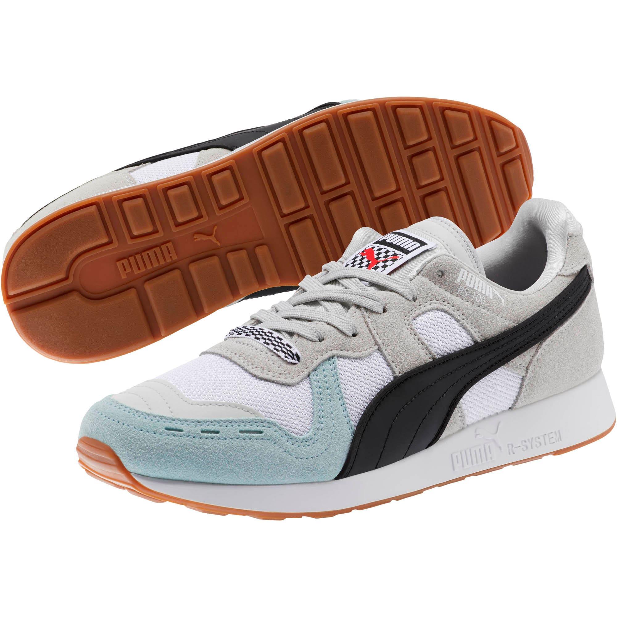 Miniatura 2 de Zapatos deportivos RS-100 Racing Flag, Glacier Gray-Puma White, mediano