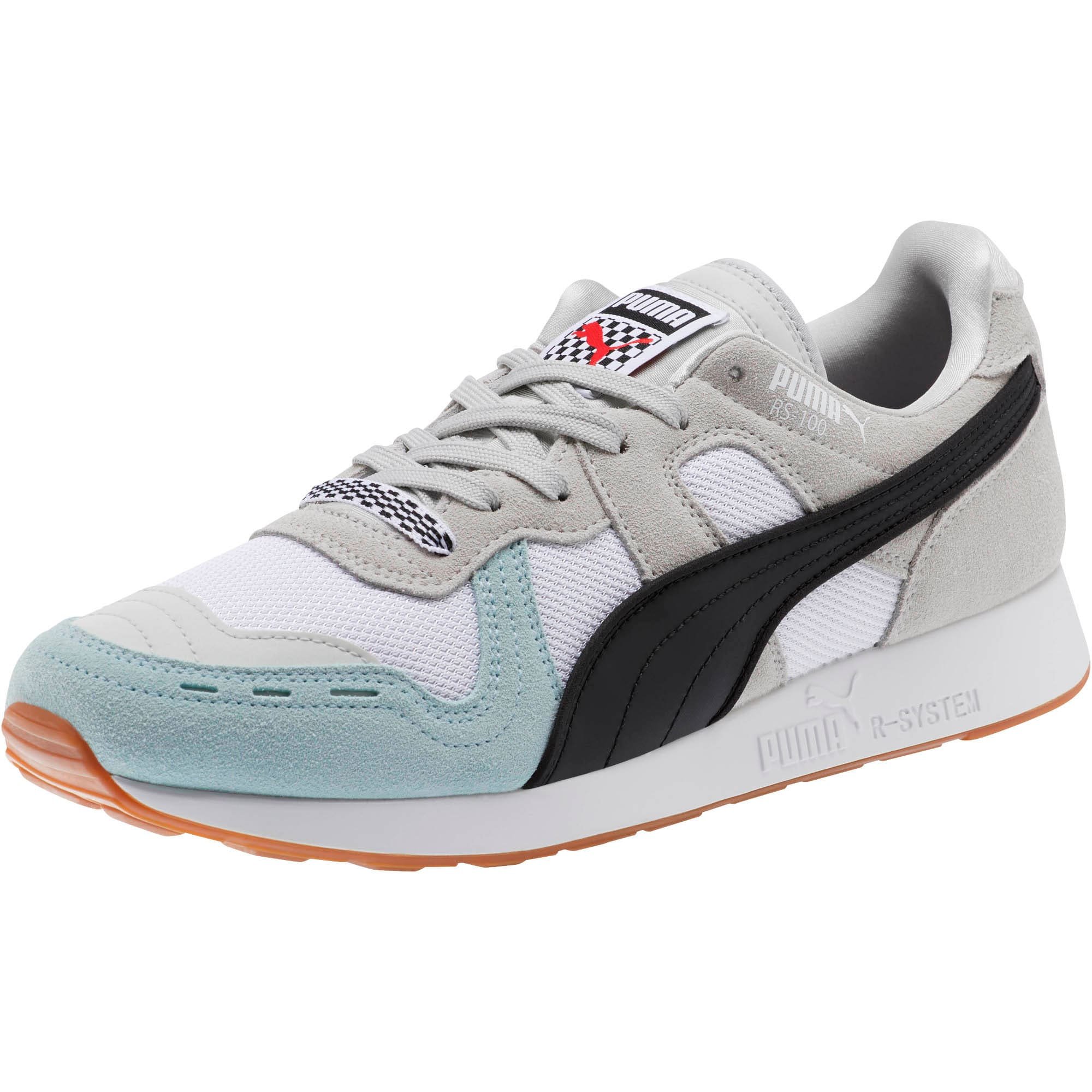 Miniatura 1 de Zapatos deportivos RS-100 Racing Flag, Glacier Gray-Puma White, mediano