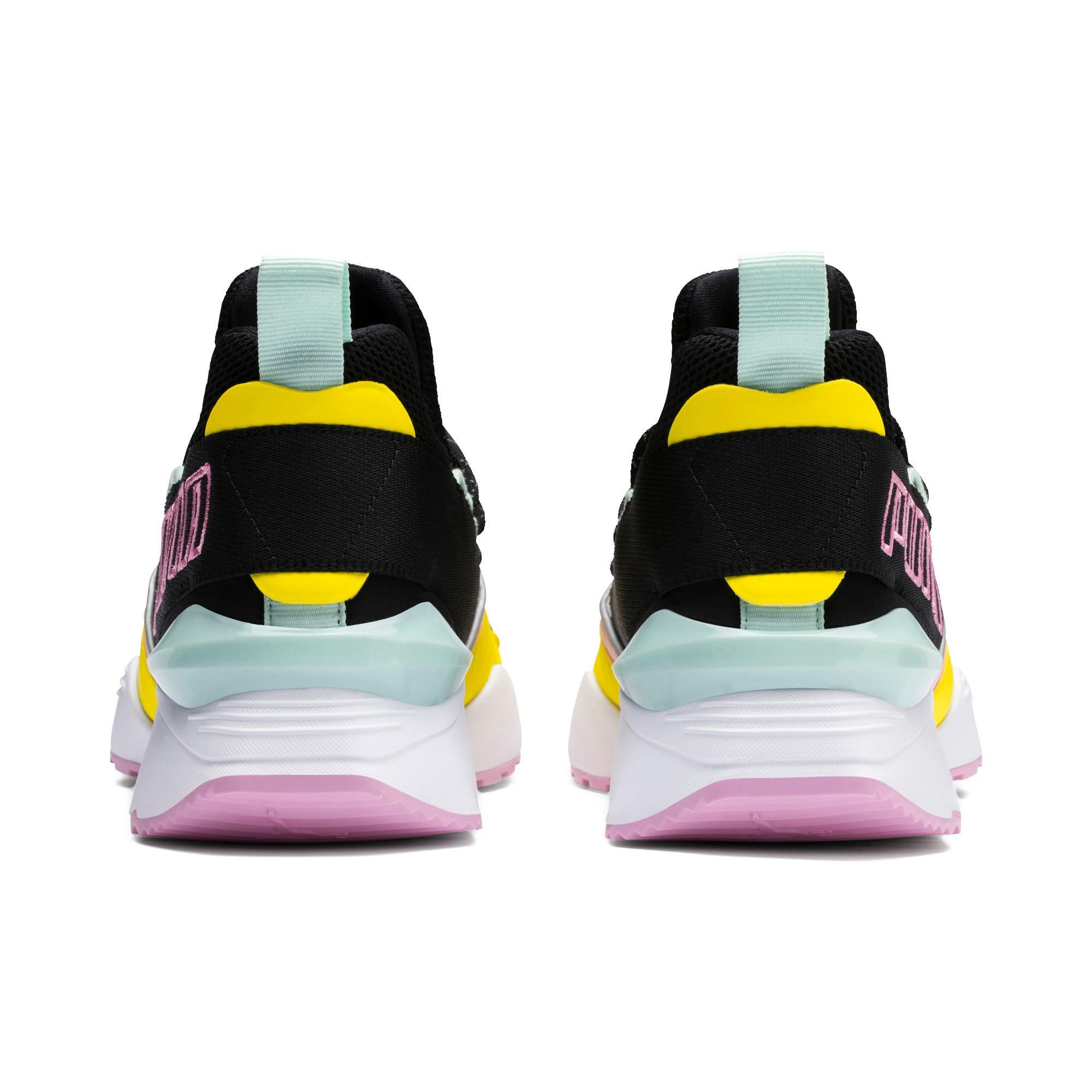Thumbnail 4 of Muse Maia TZ Damen Sneaker, Puma Black-Blazing Yellow, medium
