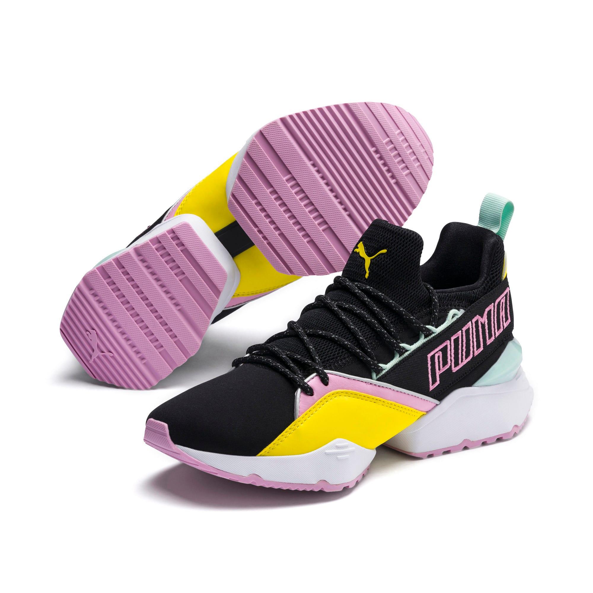Thumbnail 3 of Muse Maia TZ Damen Sneaker, Puma Black-Blazing Yellow, medium
