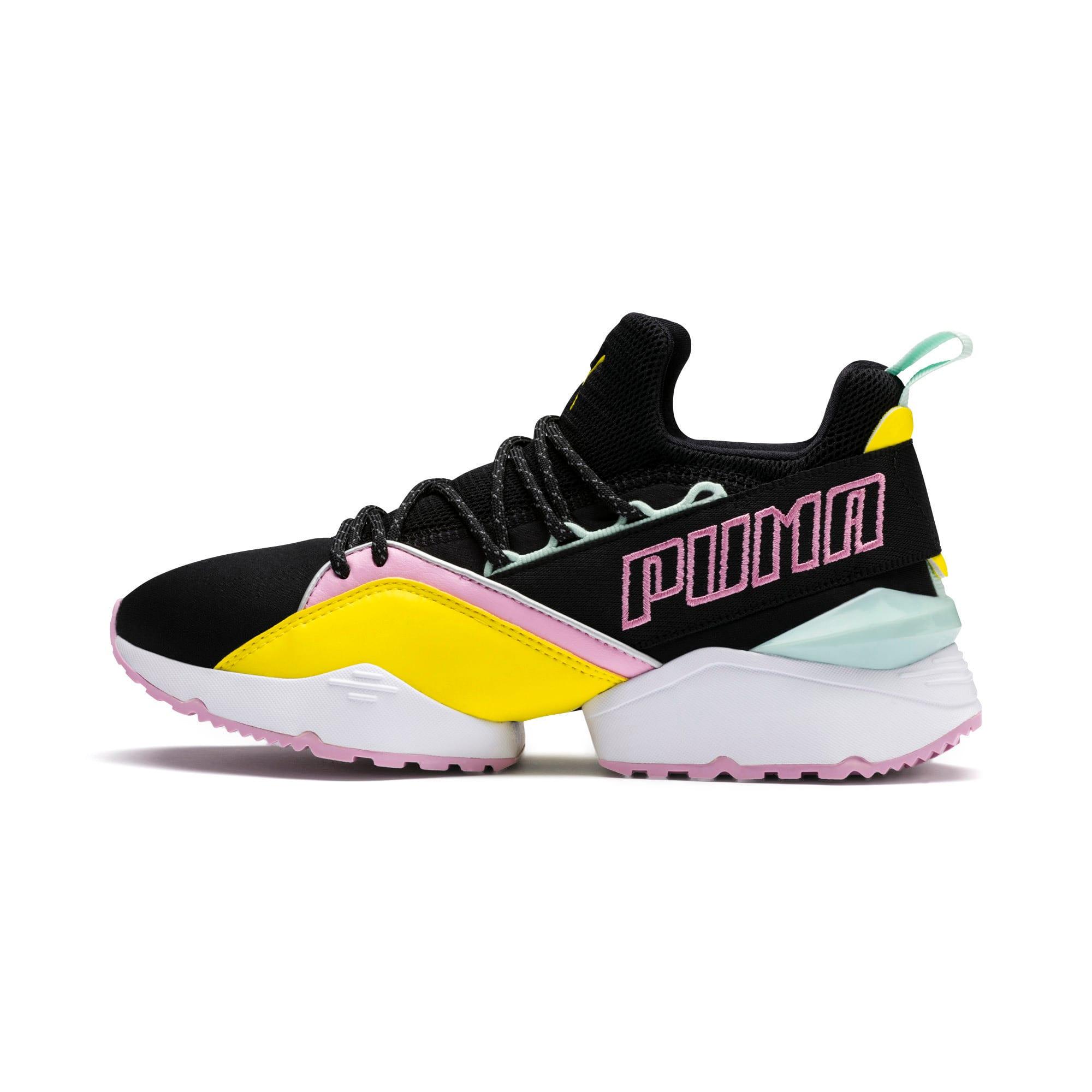 Thumbnail 1 of Muse Maia TZ Damen Sneaker, Puma Black-Blazing Yellow, medium