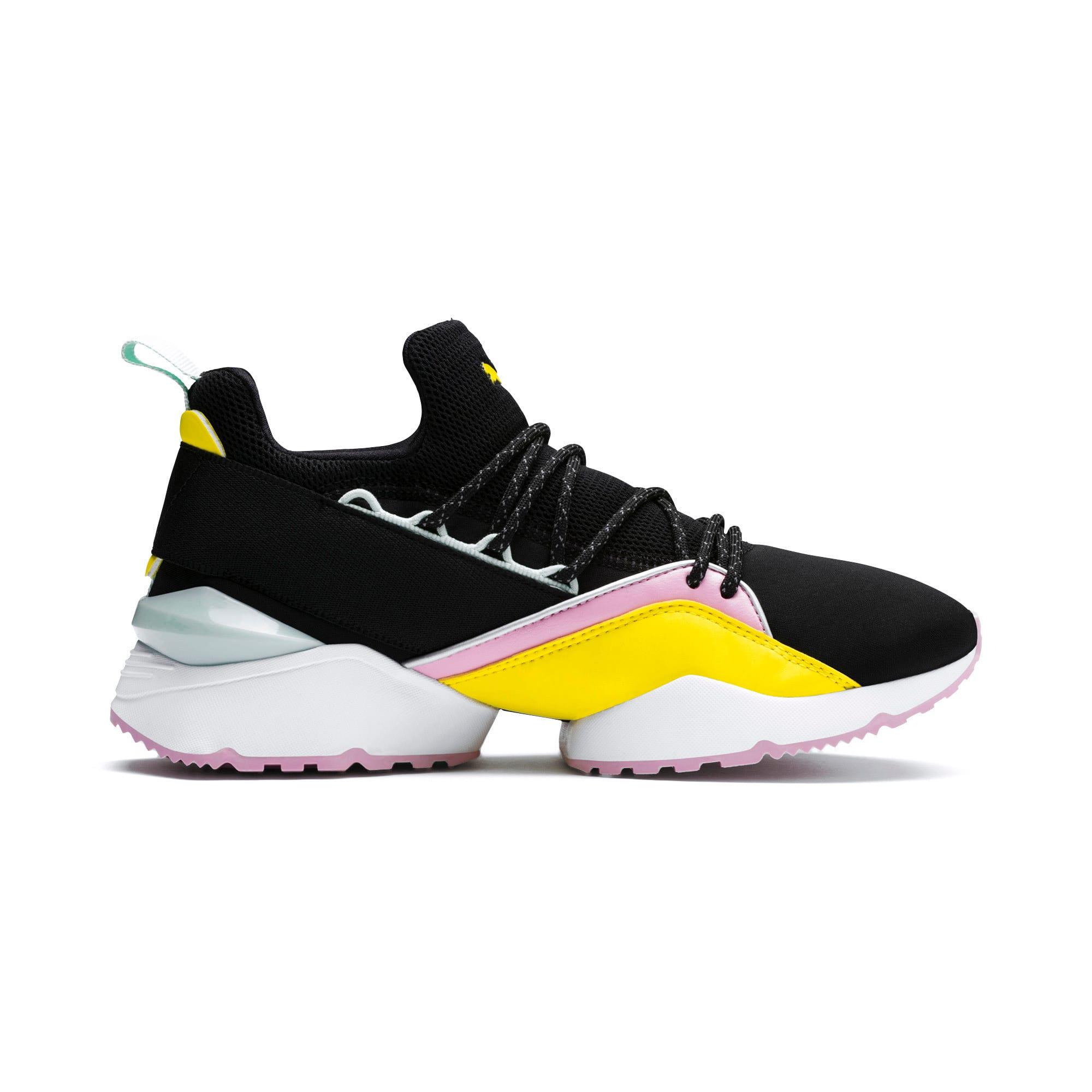 Thumbnail 6 of Muse Maia TZ Damen Sneaker, Puma Black-Blazing Yellow, medium