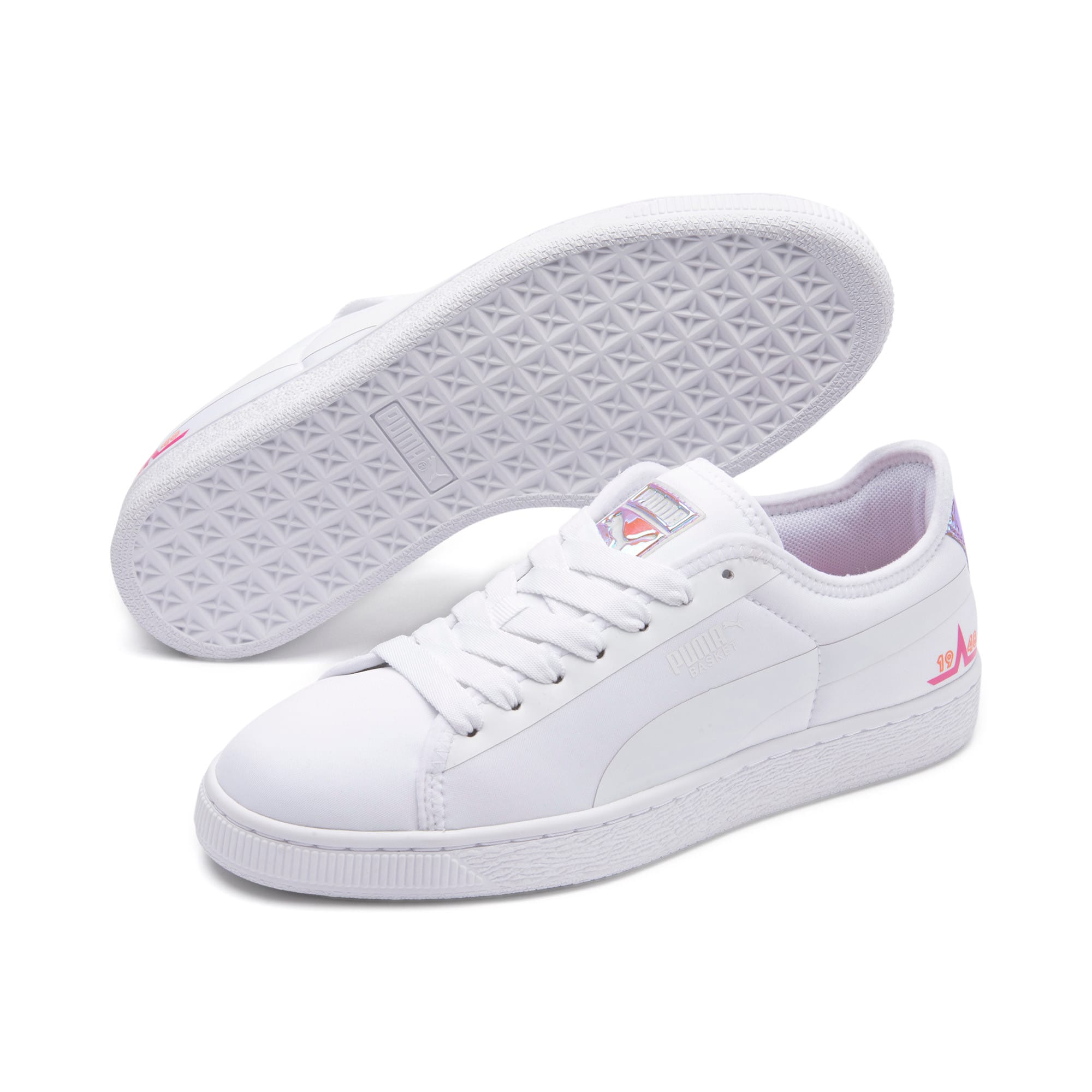 Miniatura 2 de Zapatos deportivos  Basket Trailblazerpara mujer, Puma White-Fuchsia Purple, mediano