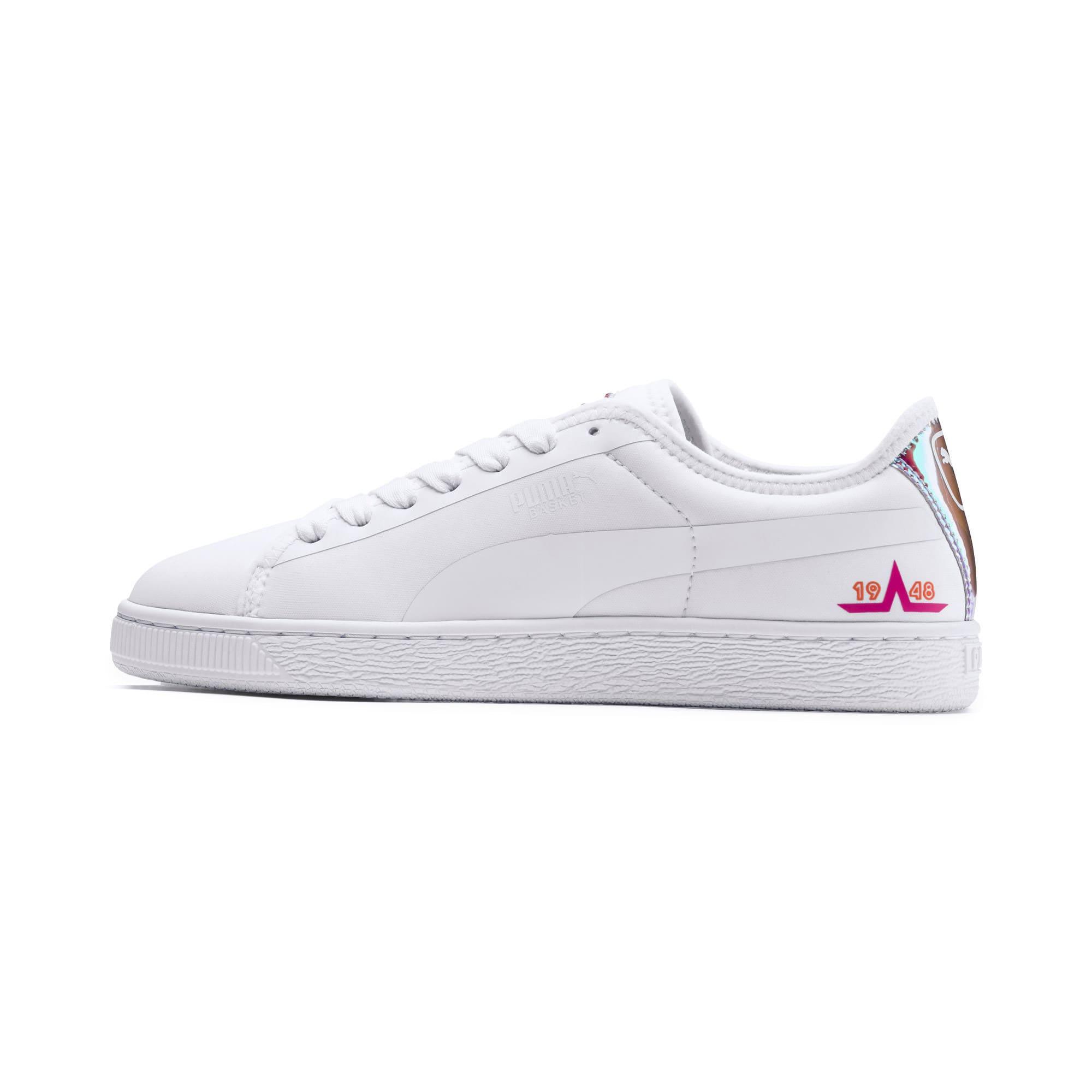 Miniatura 1 de Zapatos deportivos  Basket Trailblazerpara mujer, Puma White-Fuchsia Purple, mediano