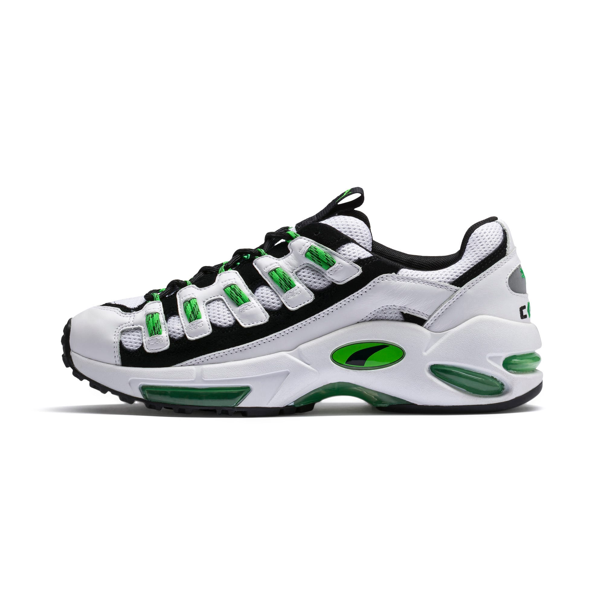 Cell Endura Trainers, Puma White-Classic Green, large
