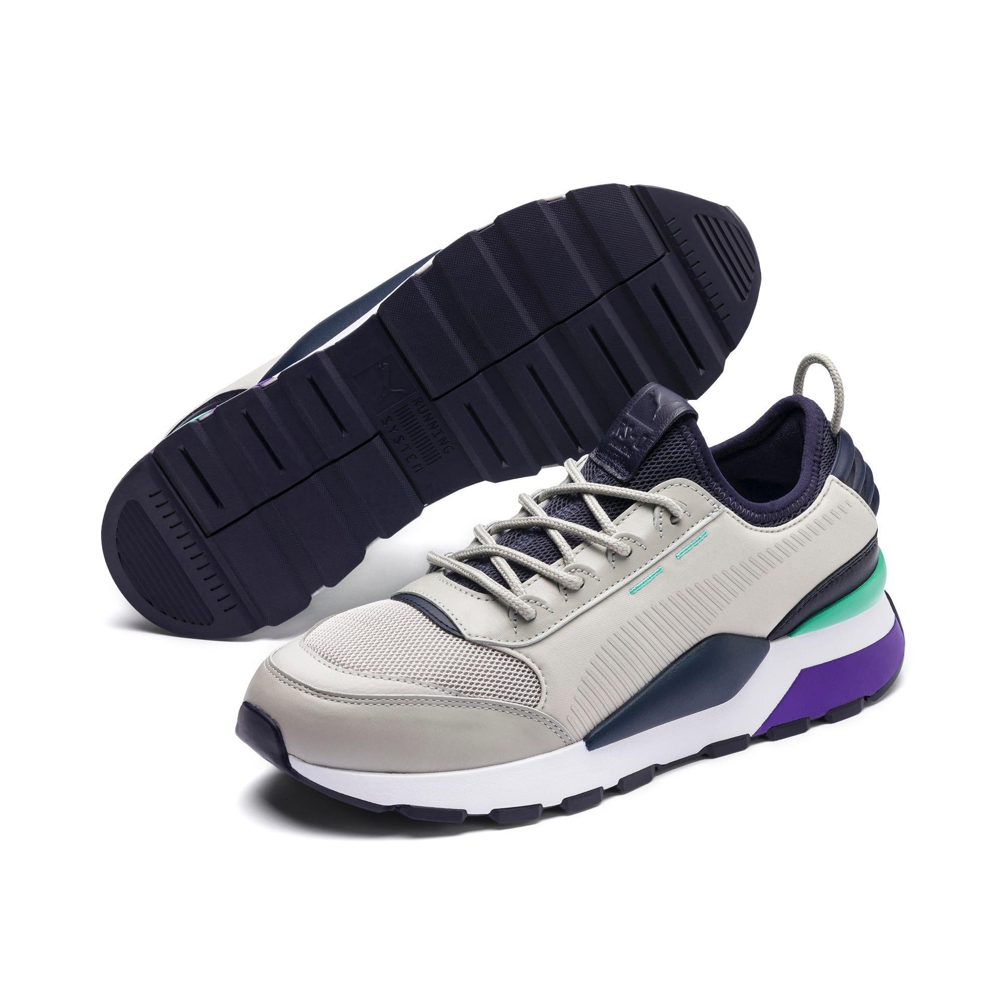 Thumbnail 3 of RS-0 TRACKS Trainers, Gray Violet-Puma New Navy, medium