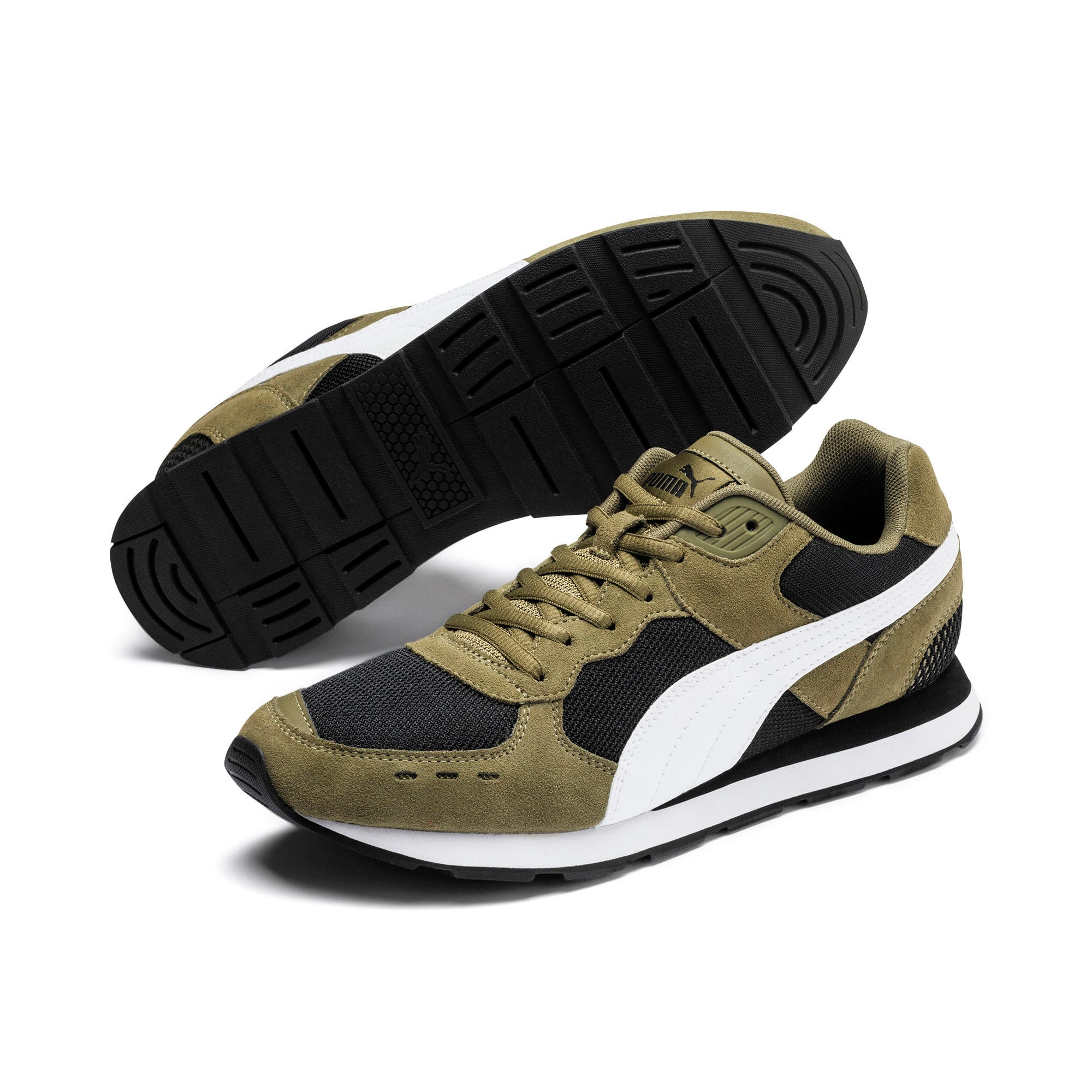 Miniatura 3 de Zapatos deportivos Vista, Burnt Olive-Puma White, mediano