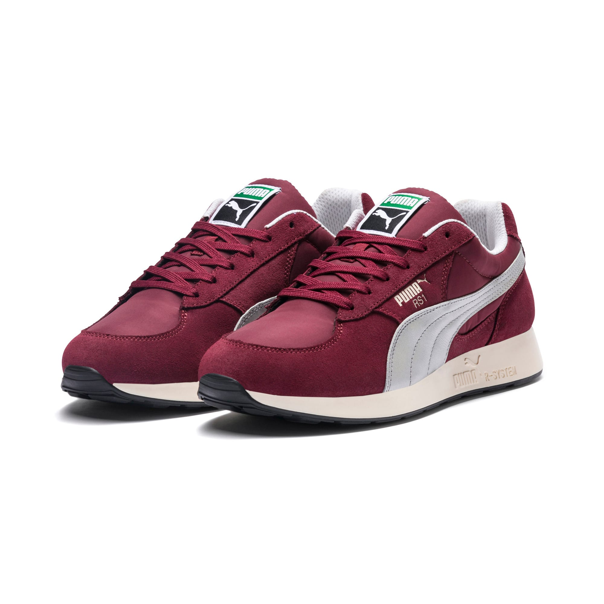 RS-1 Trainers, Cordovan-Puma Silver, large