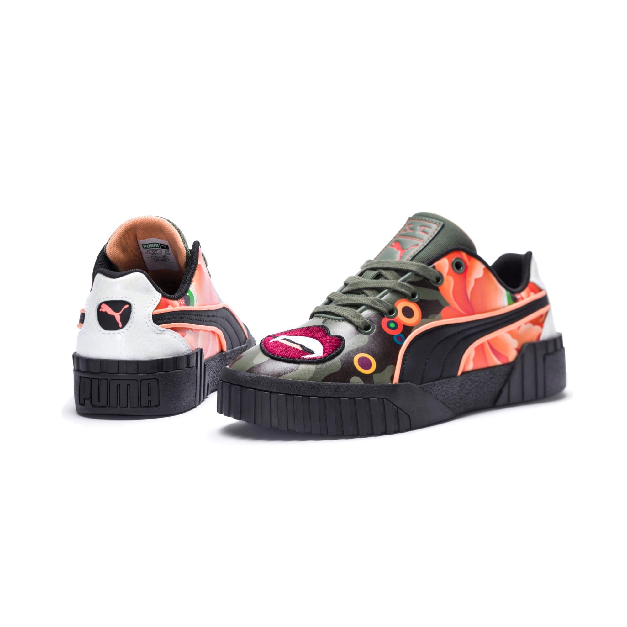 Thumbnail 9 of PUMA x SUE TSAI Cali 'Peonies Camo' Women's Sneakers, Puma Black-Puma Black, medium
