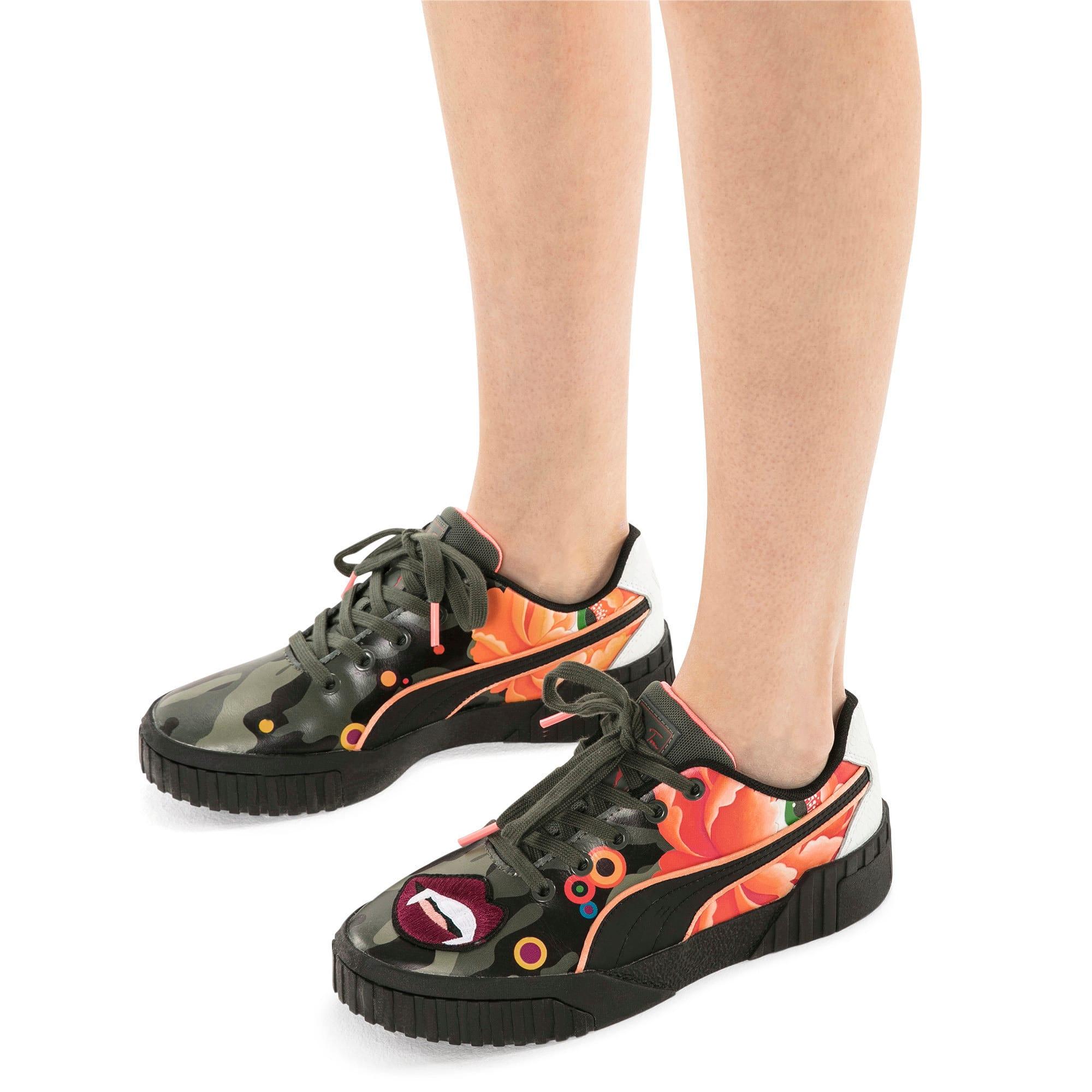 Thumbnail 2 of PUMA x SUE TSAI Cali 'Peonies Camo' Women's Sneakers, Puma Black-Puma Black, medium