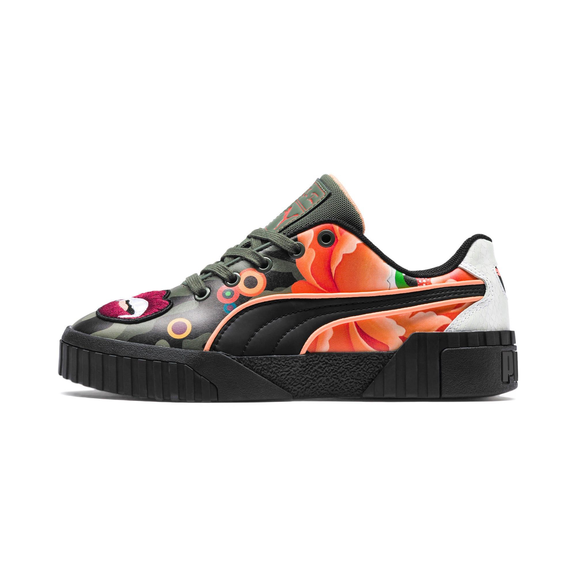 Thumbnail 1 of PUMA x SUE TSAI Cali 'Peonies Camo' Women's Sneakers, Puma Black-Puma Black, medium