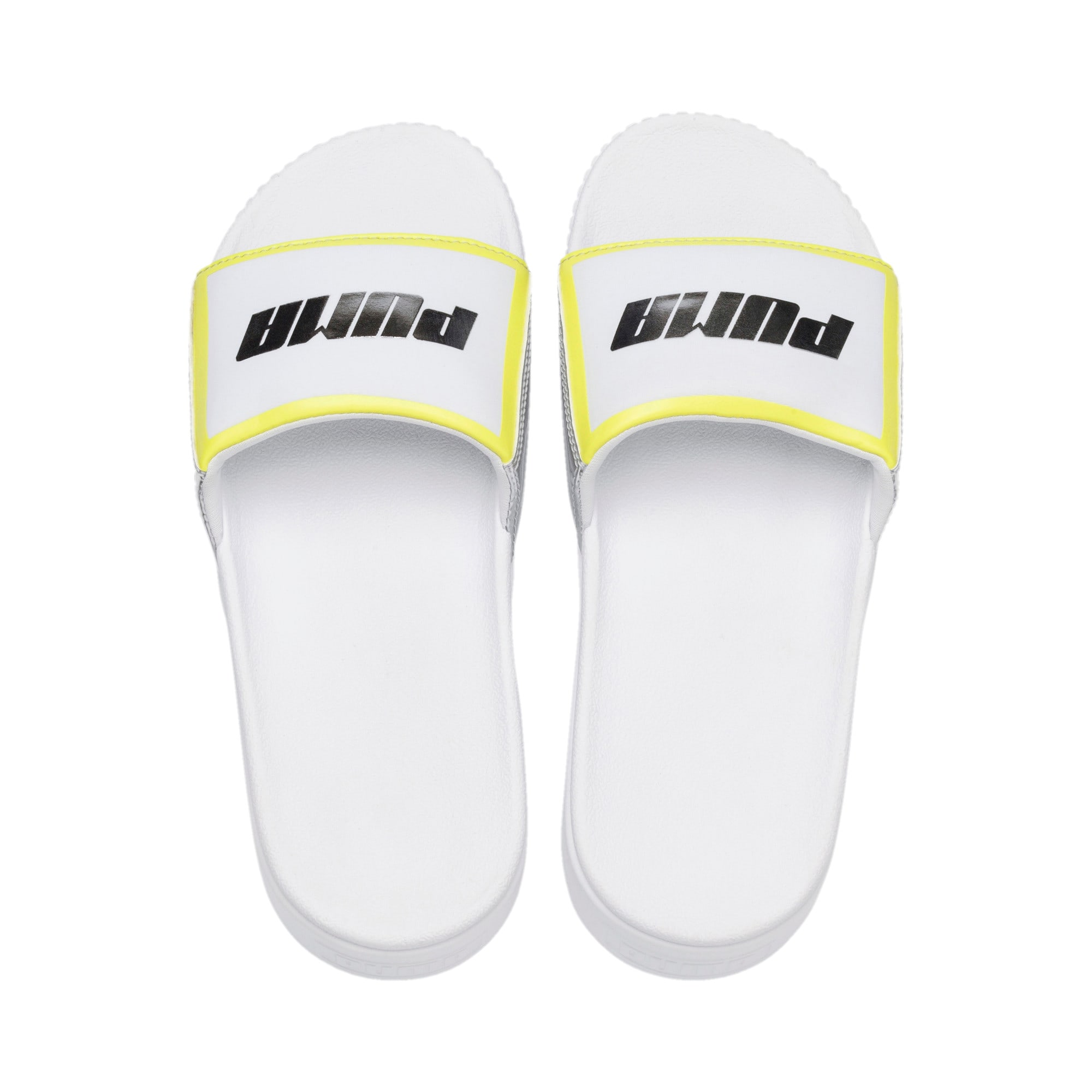 Thumbnail 6 of Platform Slide Trailblazer Metallic Women's Sandals, Puma White-Puma Silver, medium