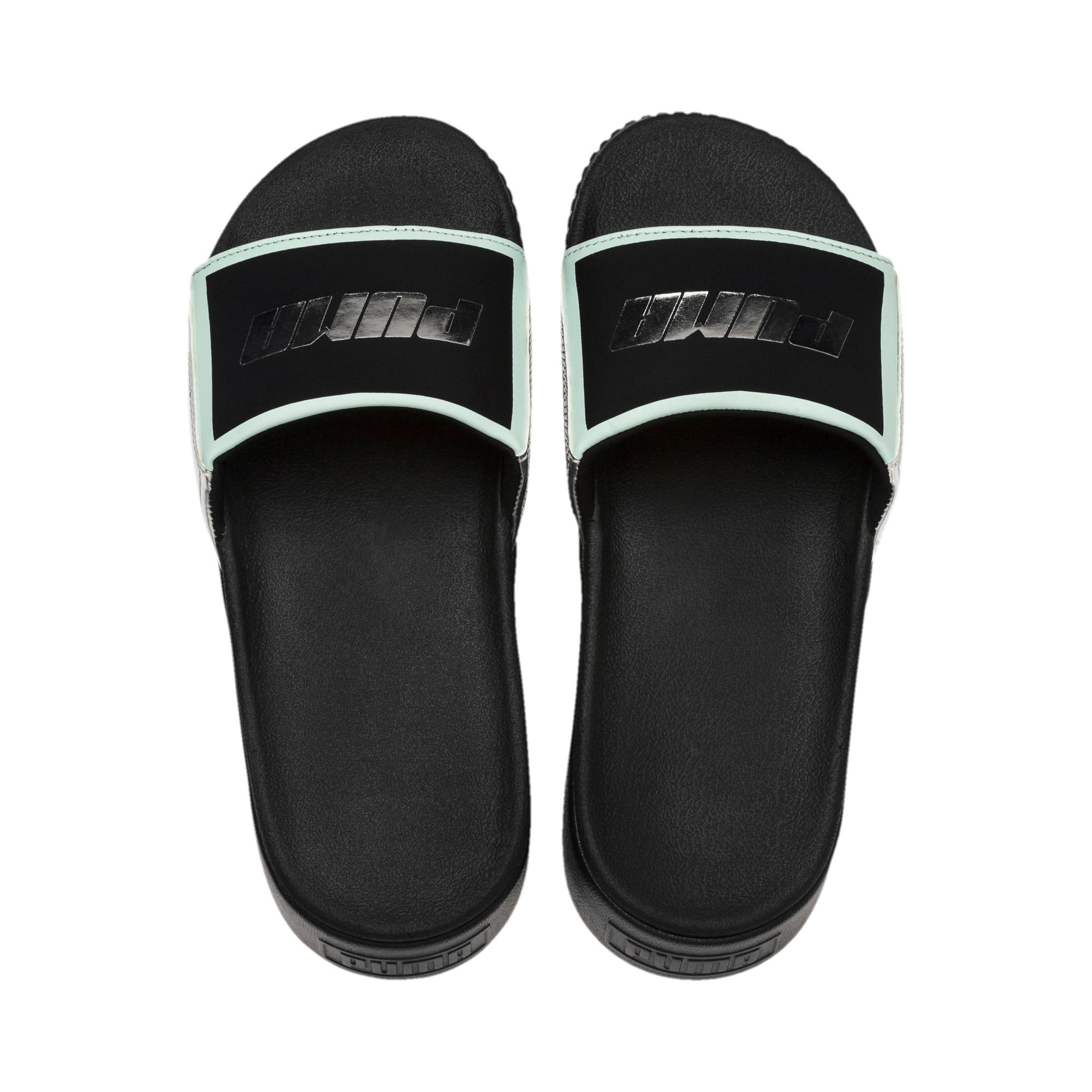Thumbnail 6 of Platform Slide Trailblazer Metallic Damen Sandalen, Puma Black-Puma Silver, medium