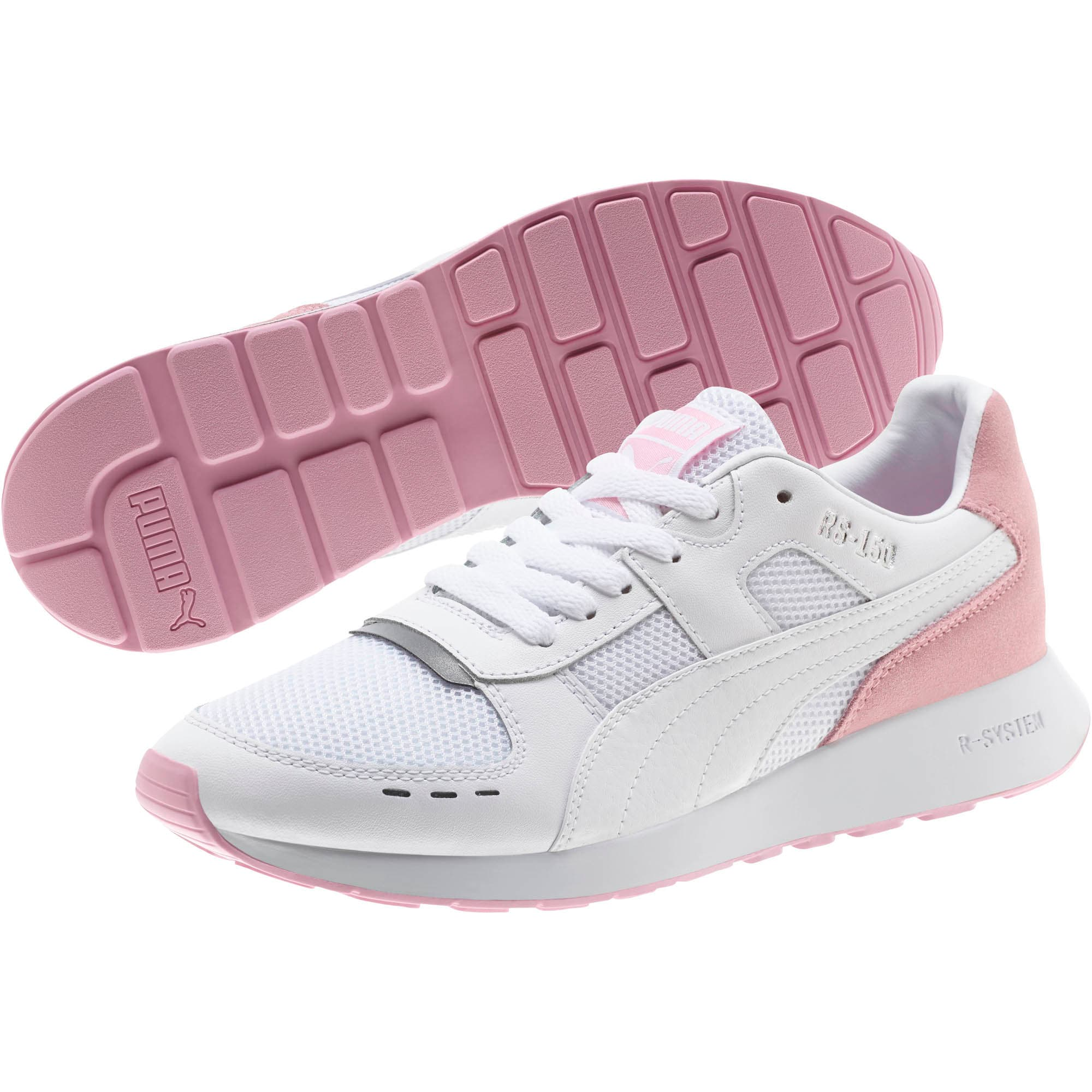 Thumbnail 2 of RS-150 Contrast Women's Sneakers, Puma White-Pale Pink, medium