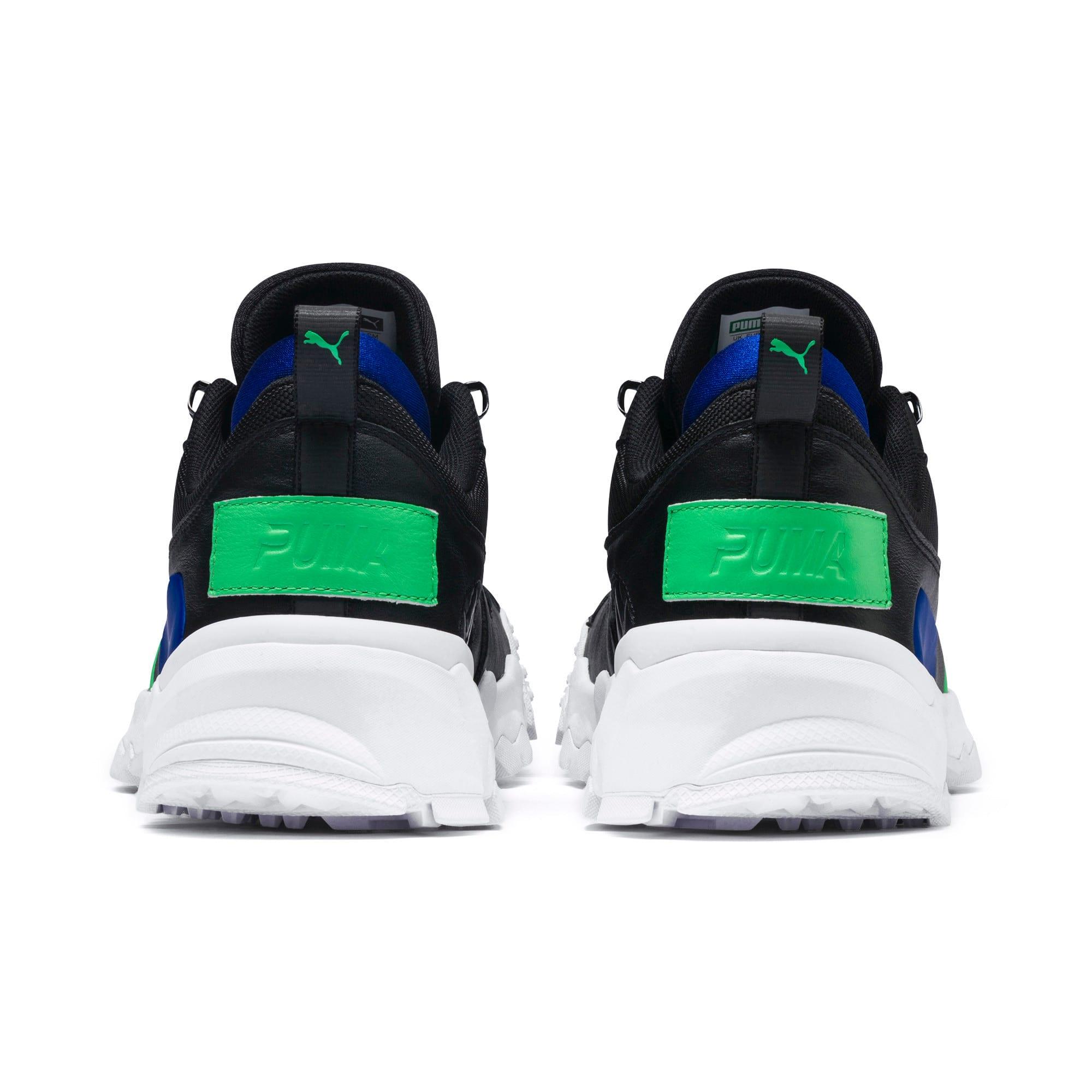 Thumbnail 4 of Trailfox Leather Sneakers, Puma Black-Irish Green, medium