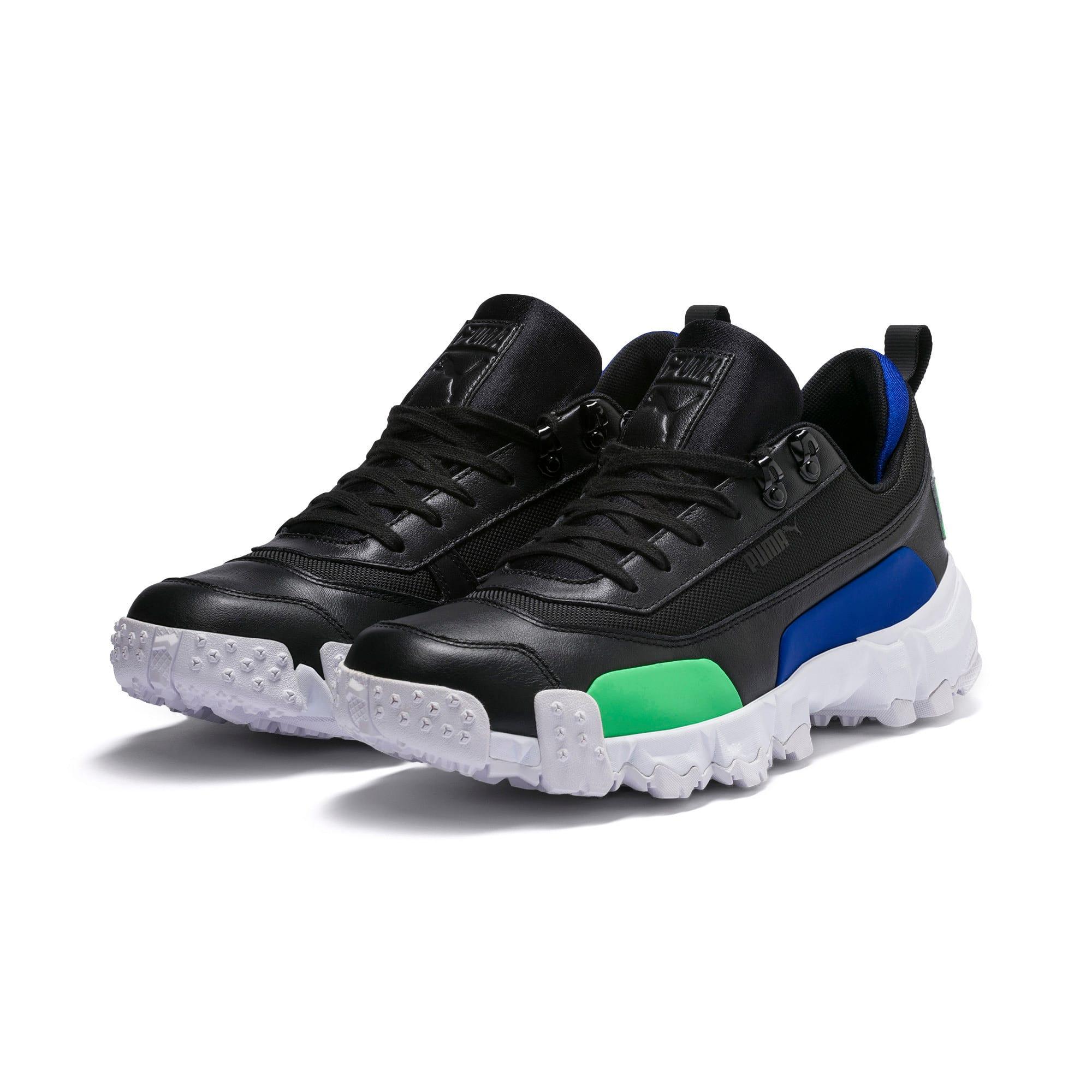 Thumbnail 3 of Trailfox Leather Sneakers, Puma Black-Irish Green, medium