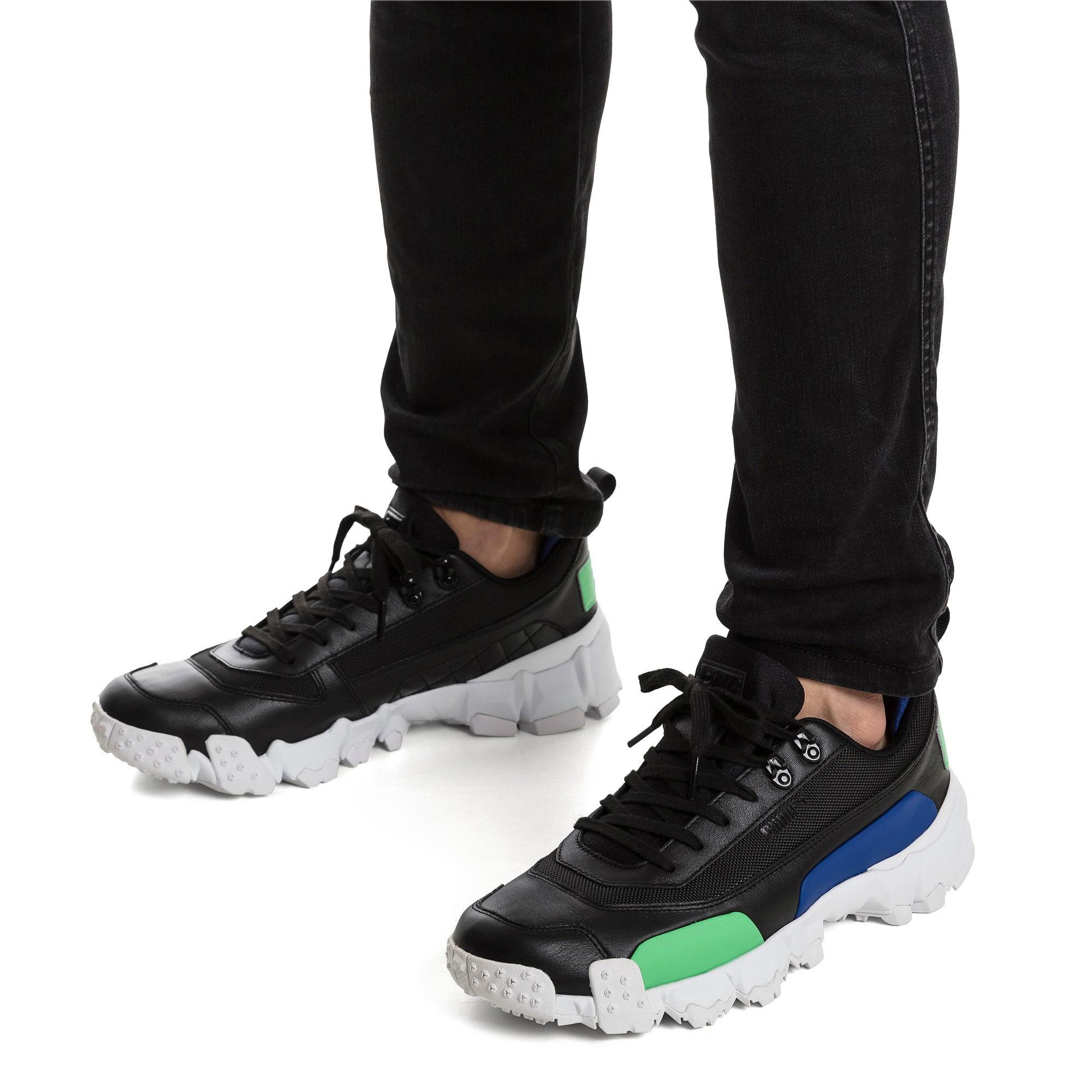 Thumbnail 2 of Trailfox Leather Sneakers, Puma Black-Irish Green, medium
