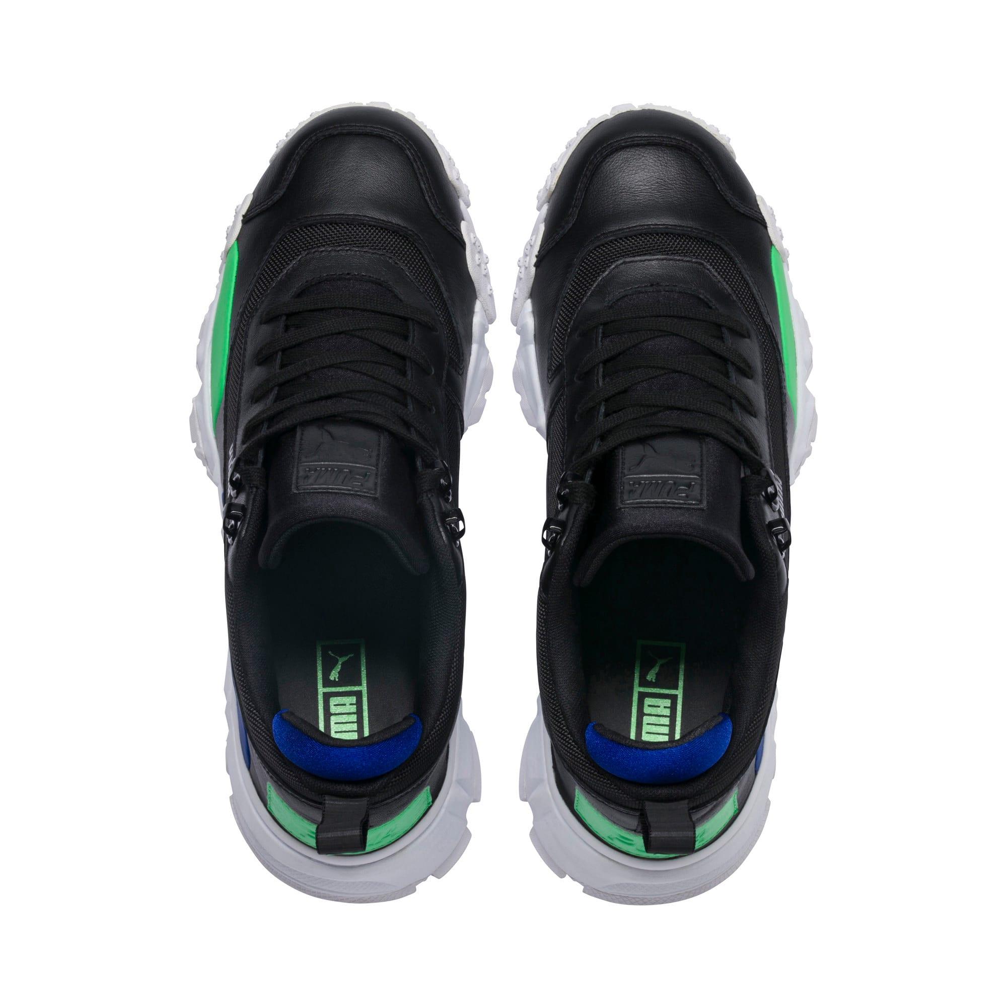 Thumbnail 7 of Trailfox Leather Sneakers, Puma Black-Irish Green, medium