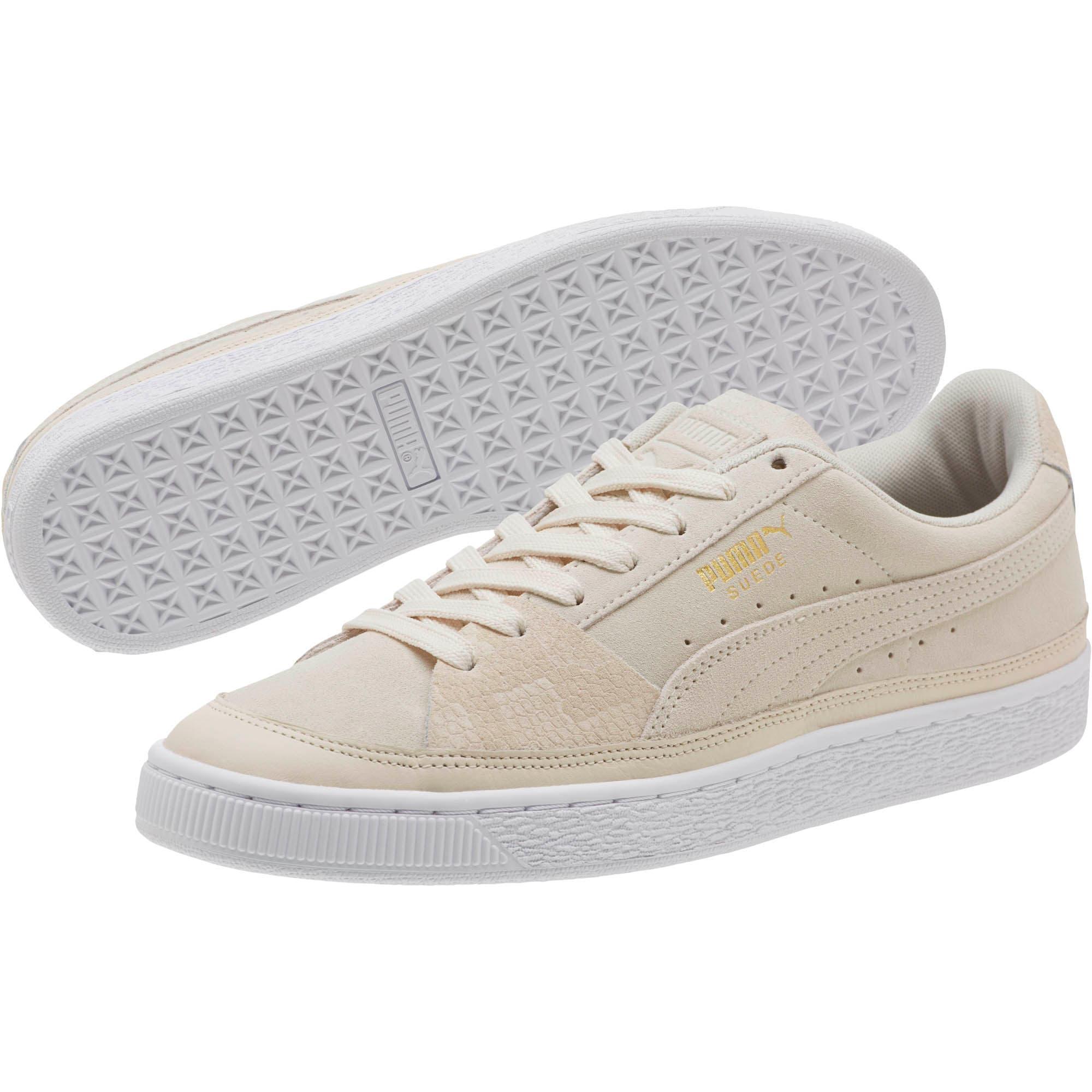 Thumbnail 2 of Suede Skate Premium Sneakers, Whisper White-Puma White, medium