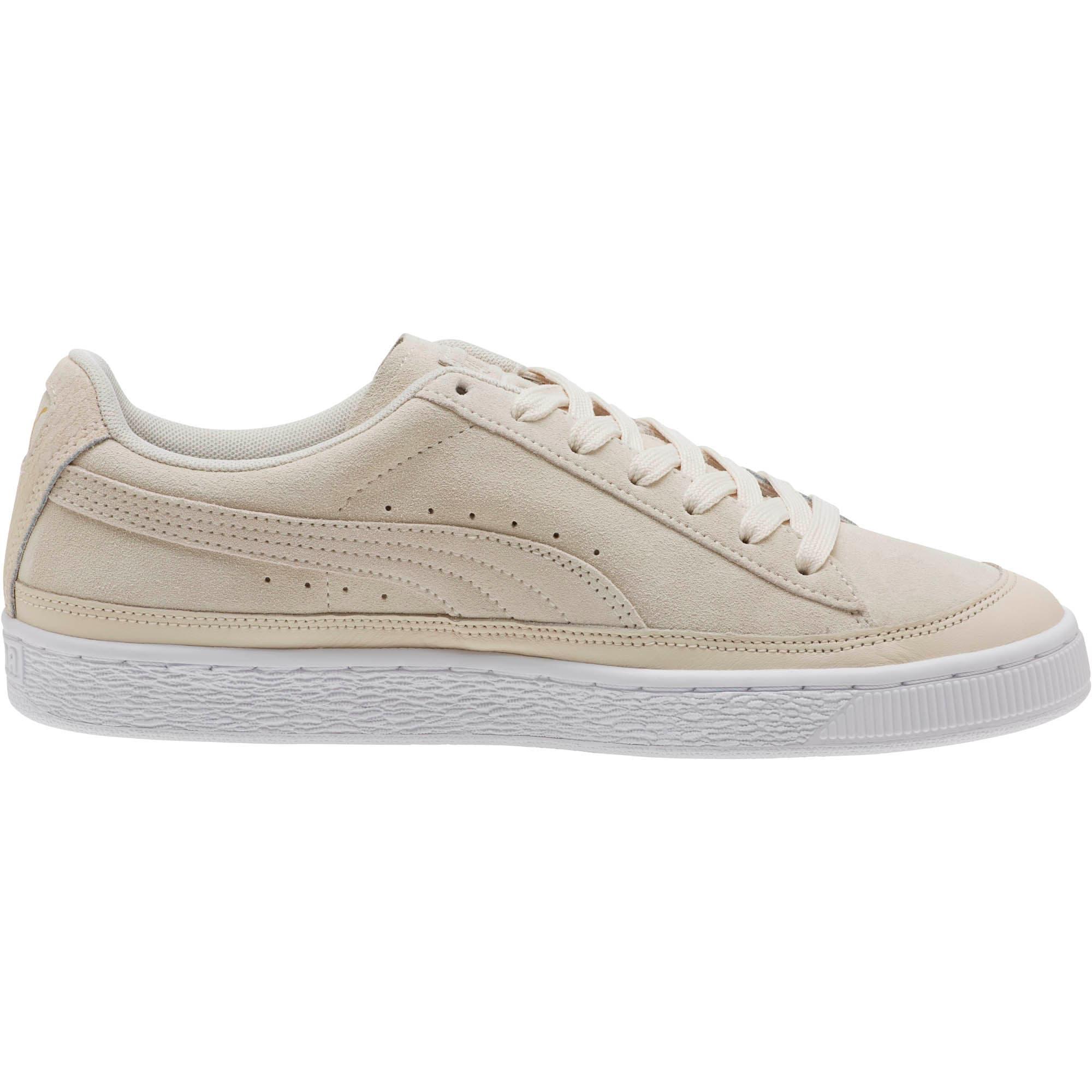 Thumbnail 3 of Suede Skate Premium Sneakers, Whisper White-Puma White, medium