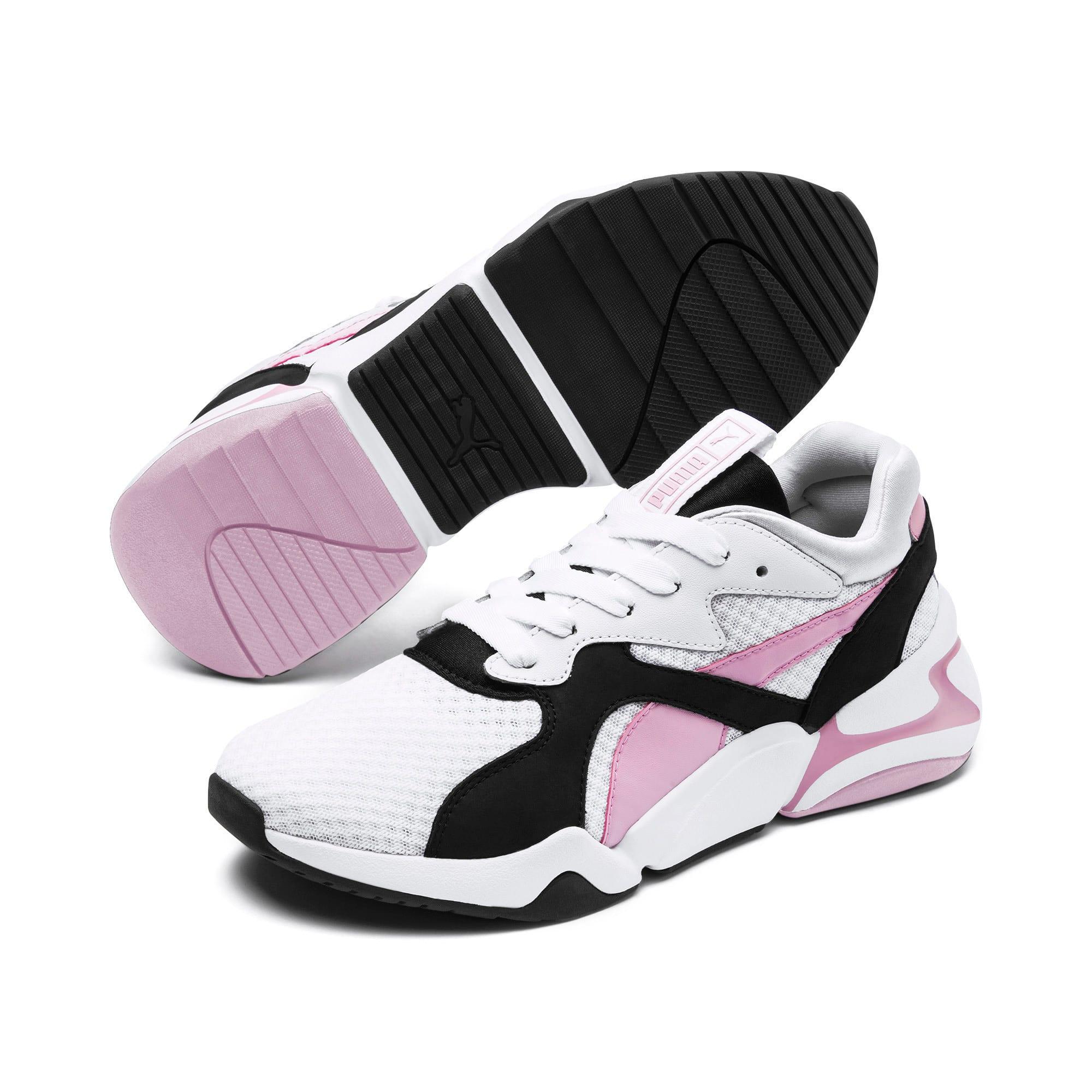 Miniatura 3 de Zapatos deportivos Nova '90s Bloc para mujer, Puma White-Pale Pink, mediano