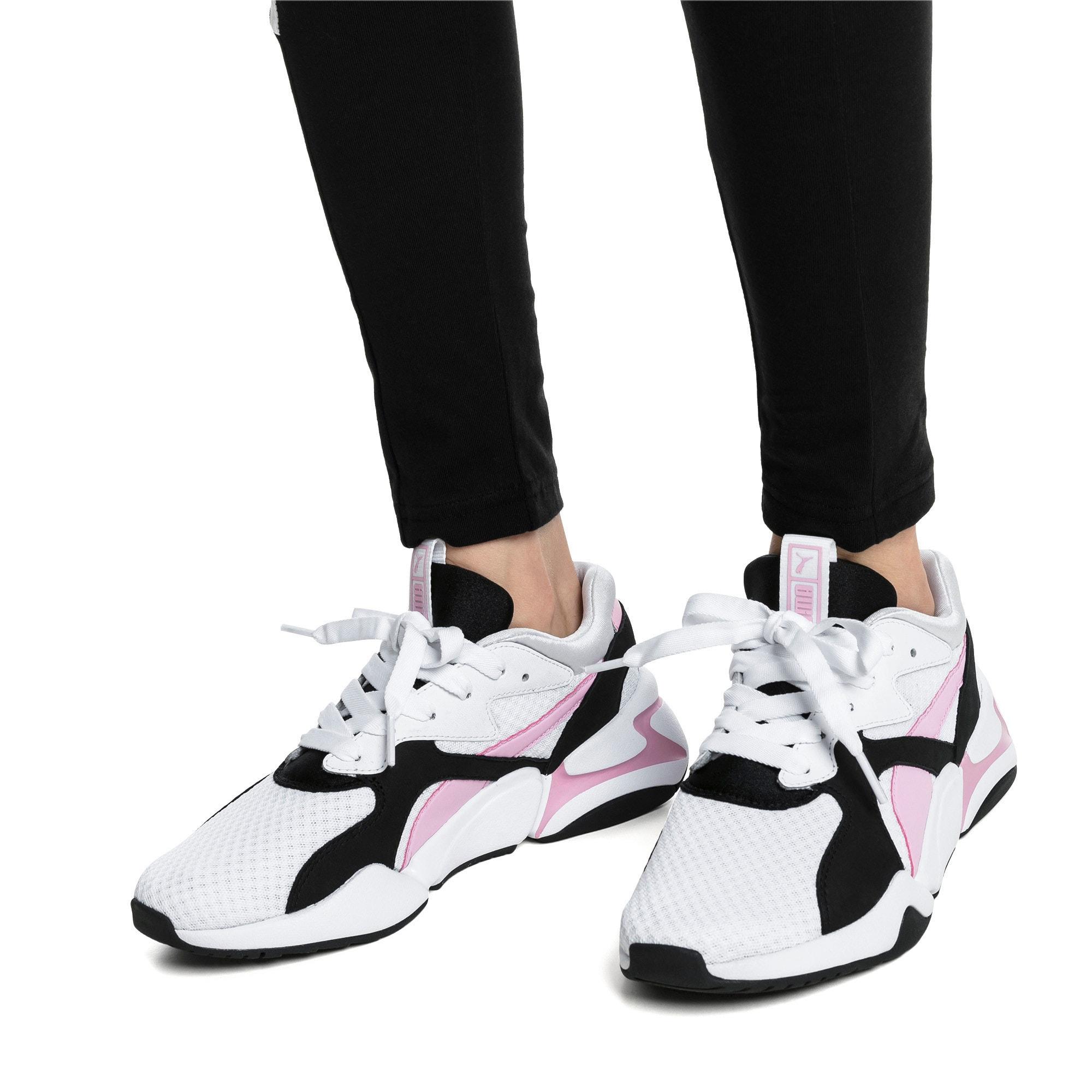 Thumbnail 2 of Nova '90s Bloc Women's Sneakers, Puma White-Pale Pink, medium