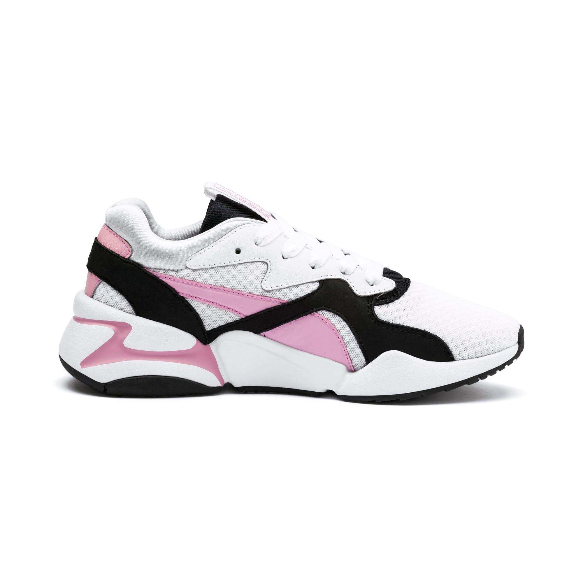 Miniatura 6 de Zapatos deportivos Nova '90s Bloc para mujer, Puma White-Pale Pink, mediano