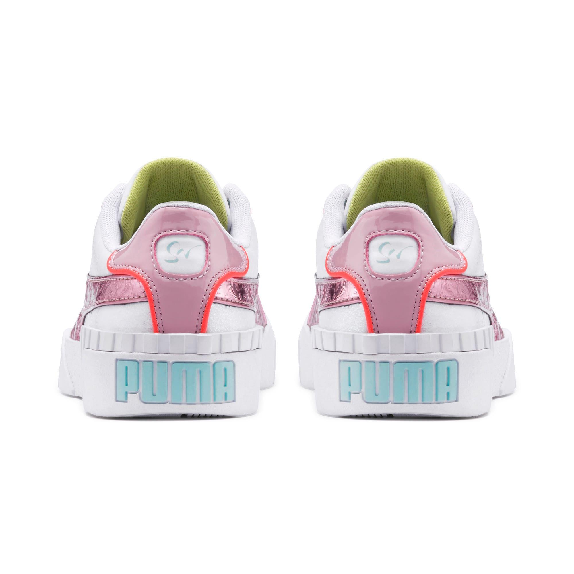 Thumbnail 3 of PUMA x SOPHIA WEBSTER Cali Women's Sneakers, Puma White-Pale Pink, medium