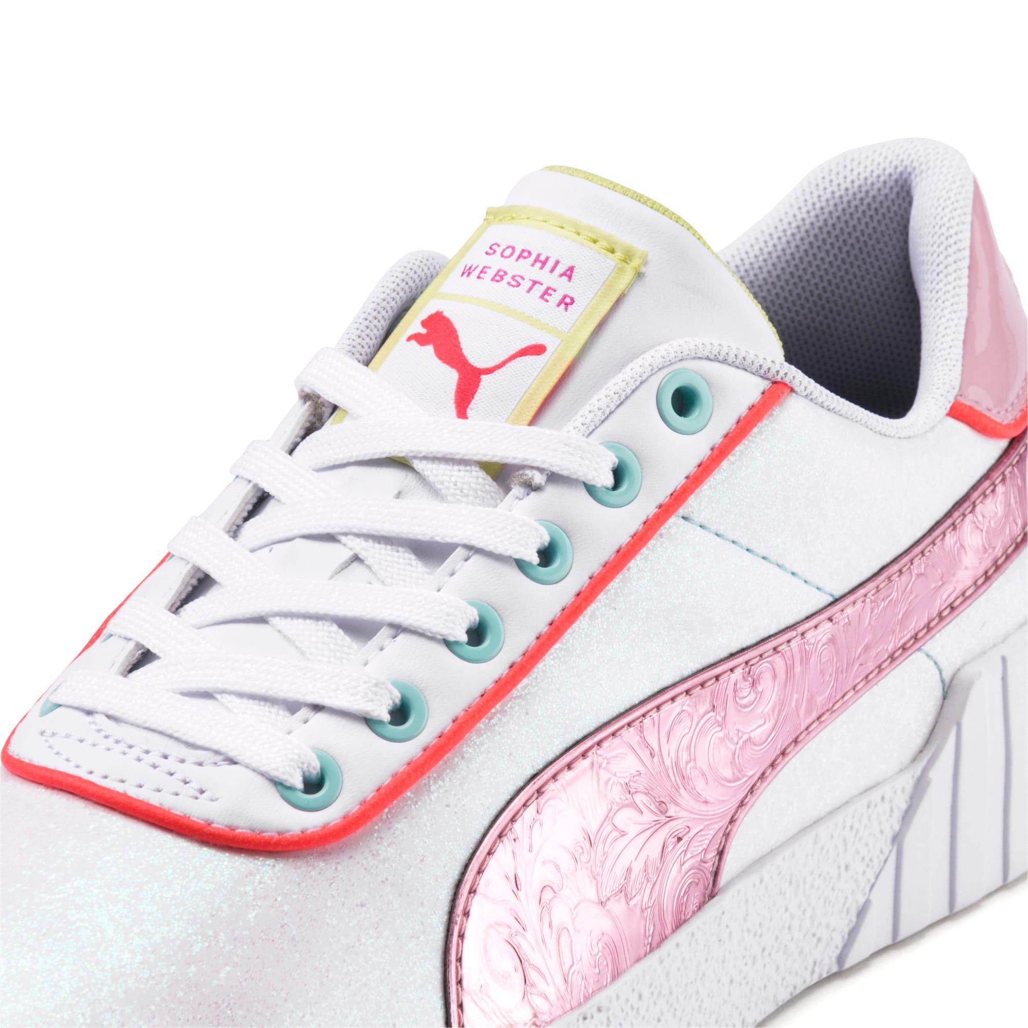 Thumbnail 7 of PUMA x SOPHIA WEBSTER Cali Women's Sneakers, Puma White-Pale Pink, medium
