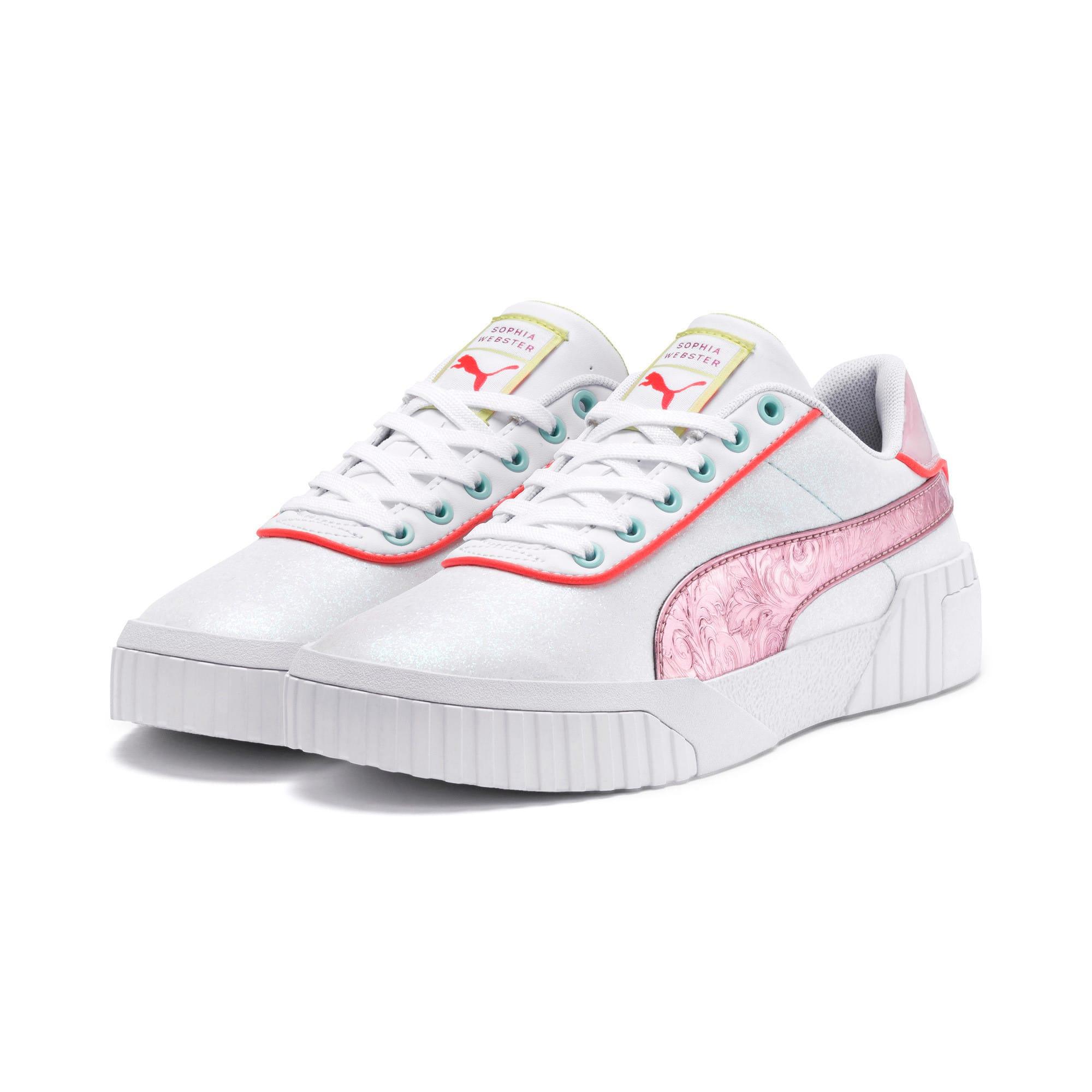 Thumbnail 2 of PUMA x SOPHIA WEBSTER Cali Women's Sneakers, Puma White-Pale Pink, medium