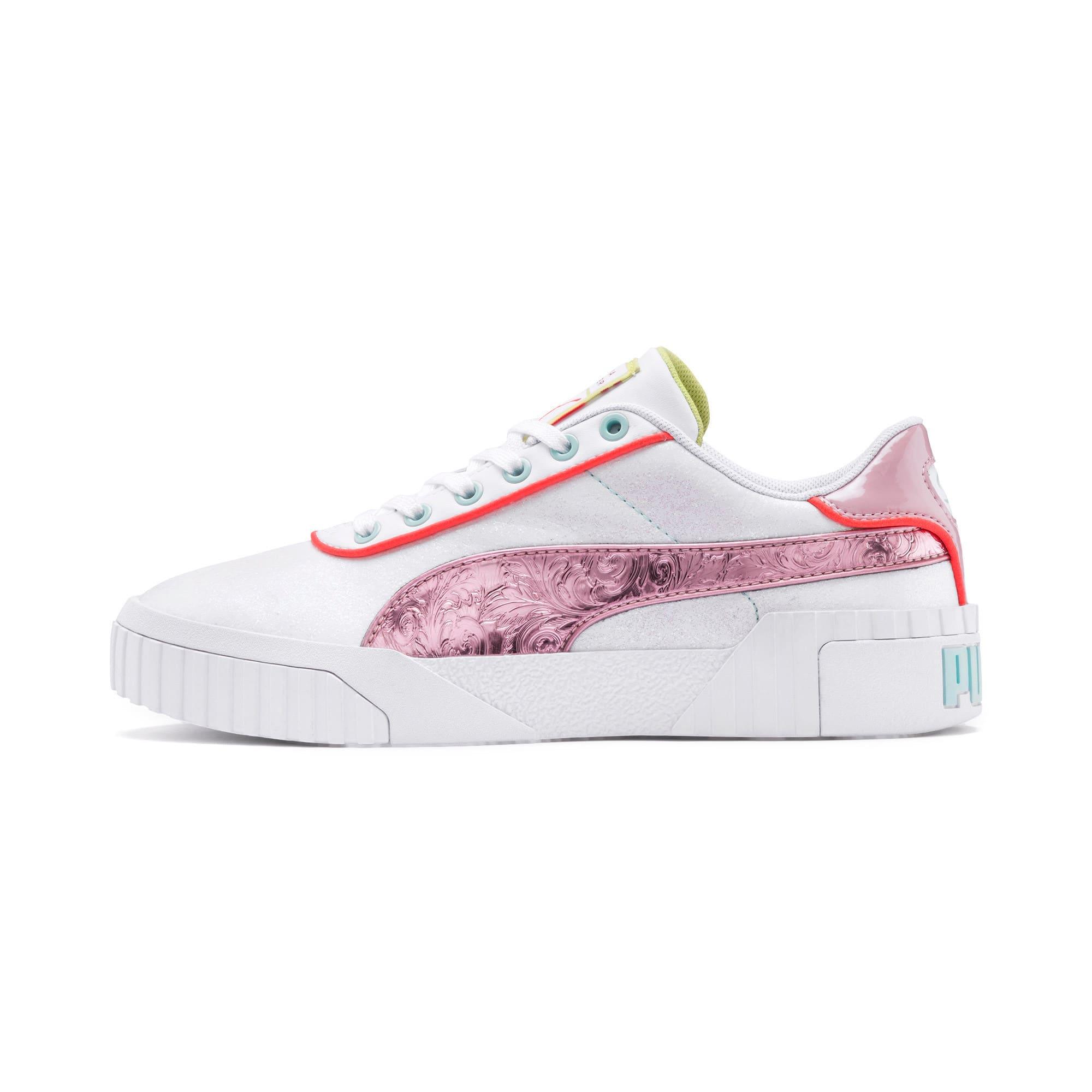 Thumbnail 1 of PUMA x SOPHIA WEBSTER Cali Women's Sneakers, Puma White-Pale Pink, medium