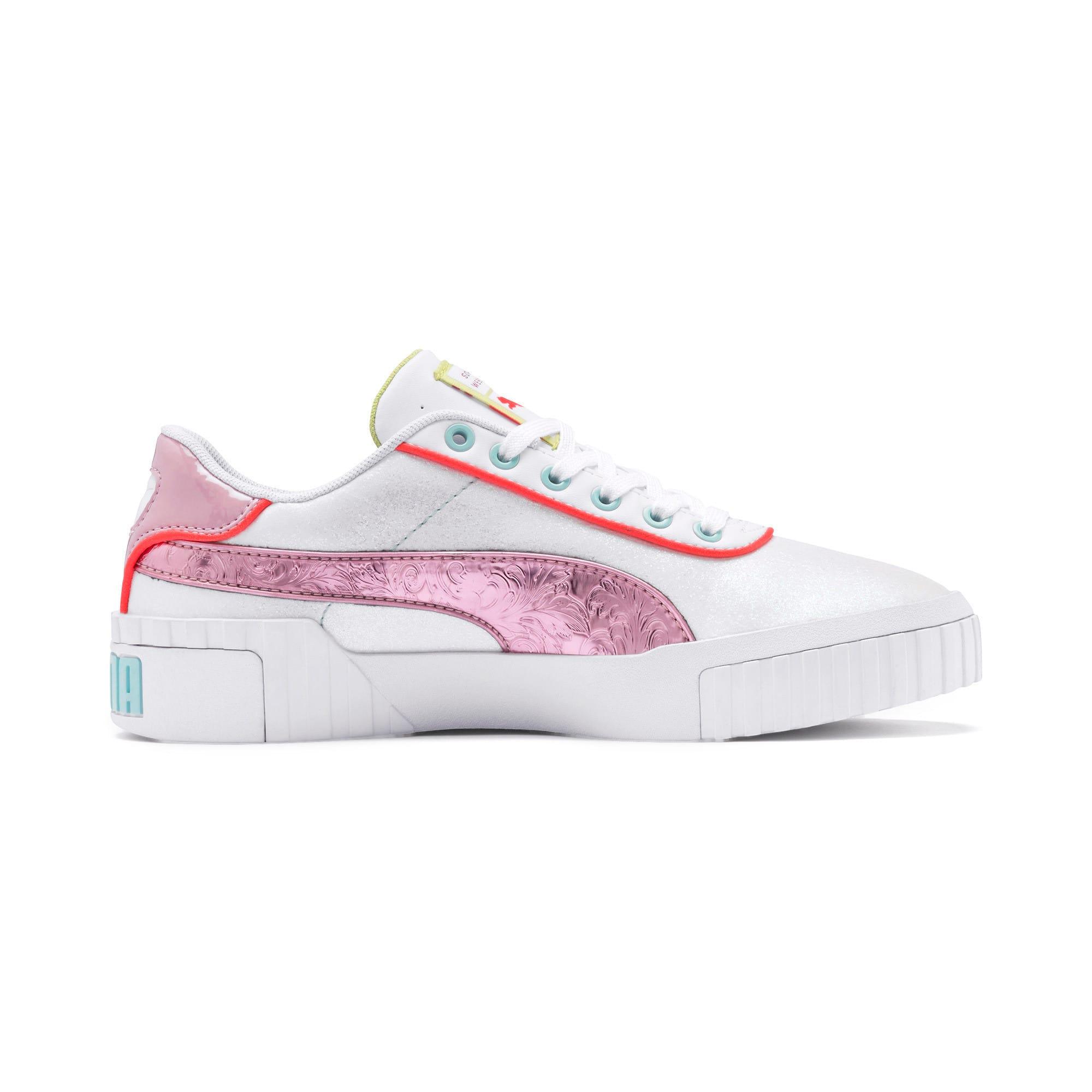 Thumbnail 5 of PUMA x SOPHIA WEBSTER Cali Women's Sneakers, Puma White-Pale Pink, medium