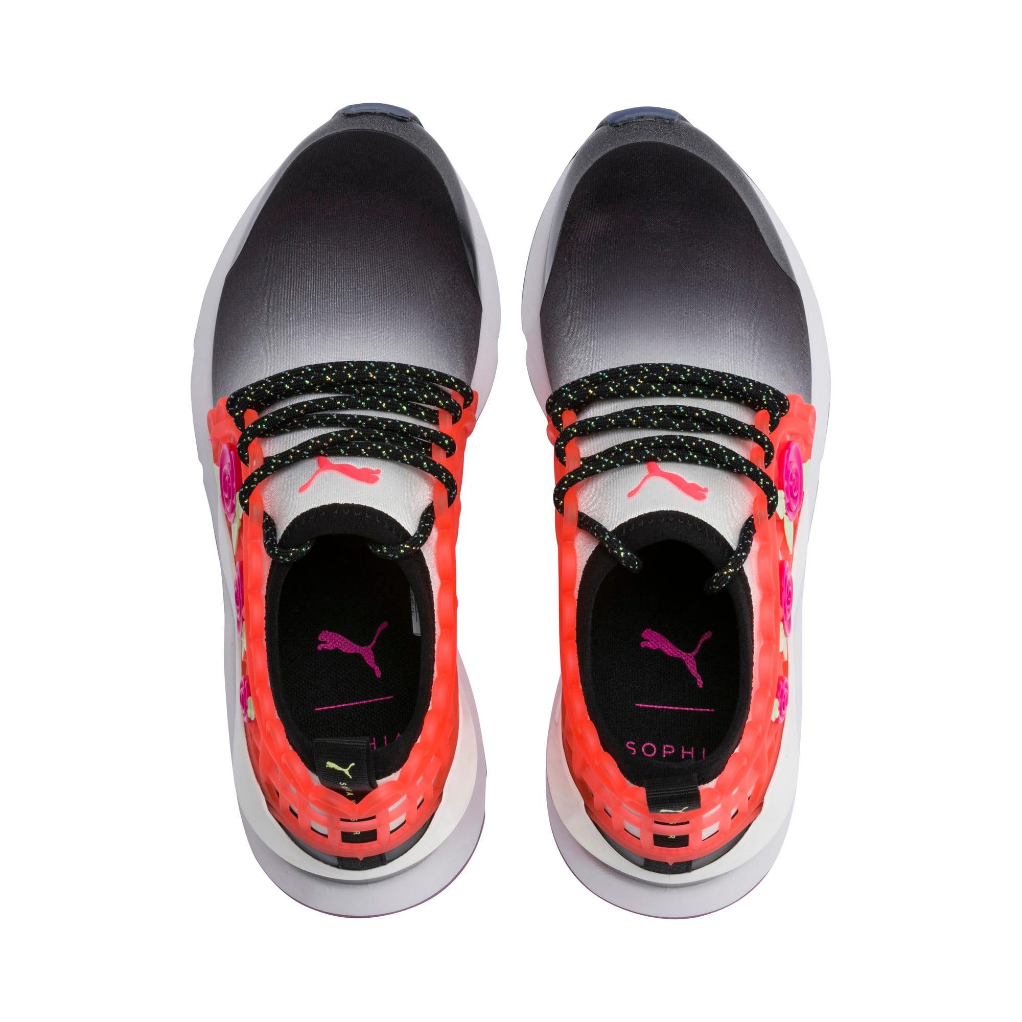 Thumbnail 6 of PUMA x SOPHIA WEBSTER Muse Women's Sneakers, Puma Black-Puma White, medium