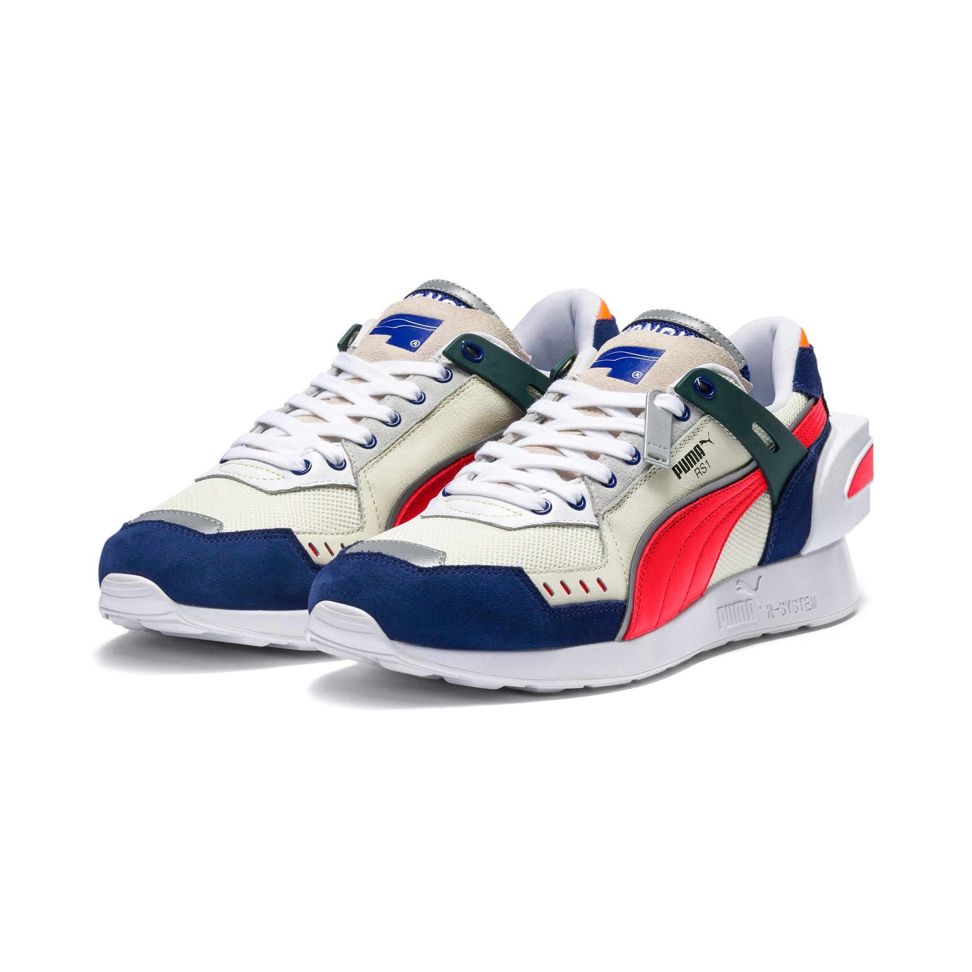 Thumbnail 3 of PUMA x ADER ERROR RS-1 Sneakers, Whisper White-Blueprint-Red, medium