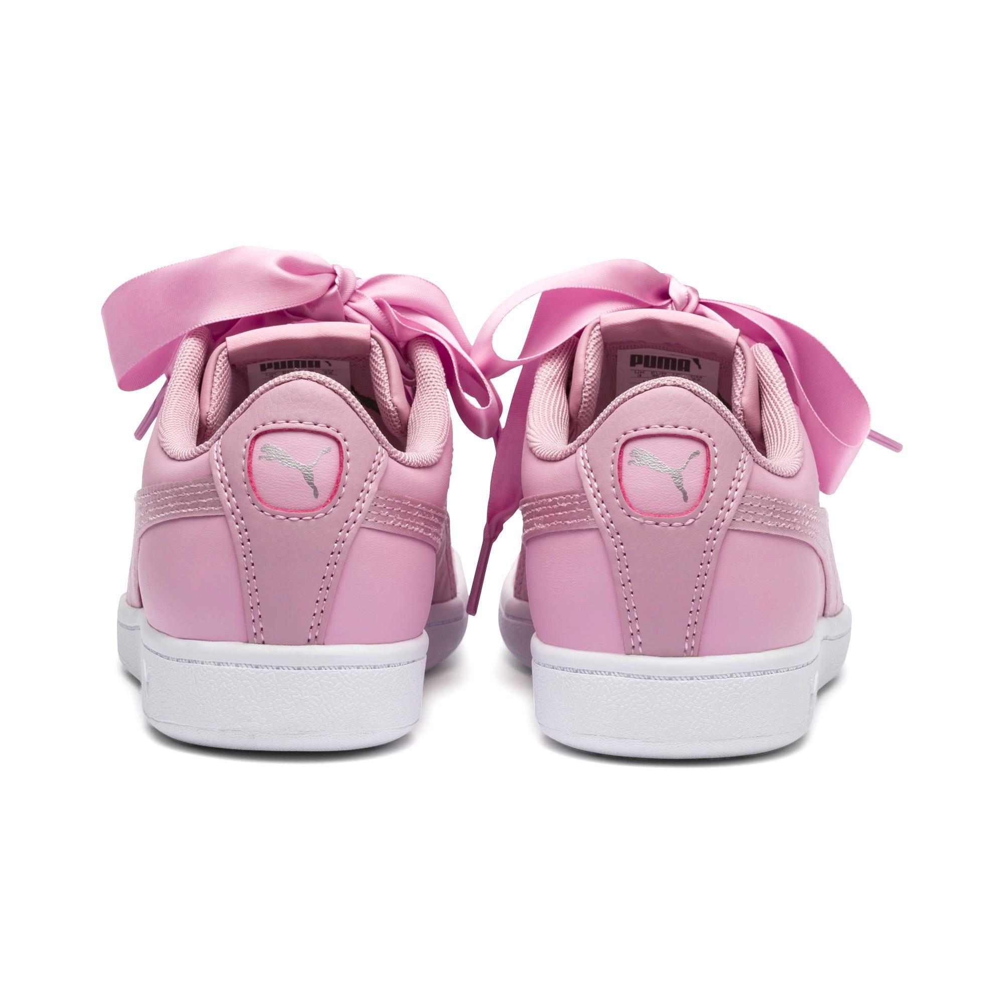 Thumbnail 3 of PUMA Vikky Ribbon Satin Sneakers JR, Pale Pink-Pale Pink, medium