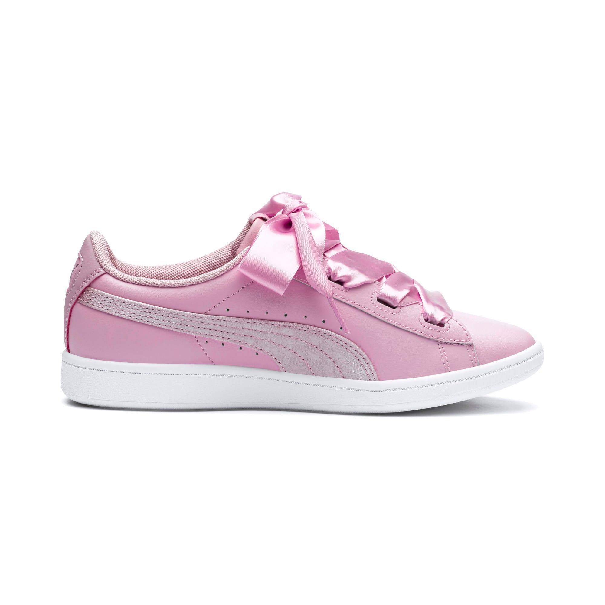 Thumbnail 5 of PUMA Vikky Ribbon Satin Sneakers JR, Pale Pink-Pale Pink, medium